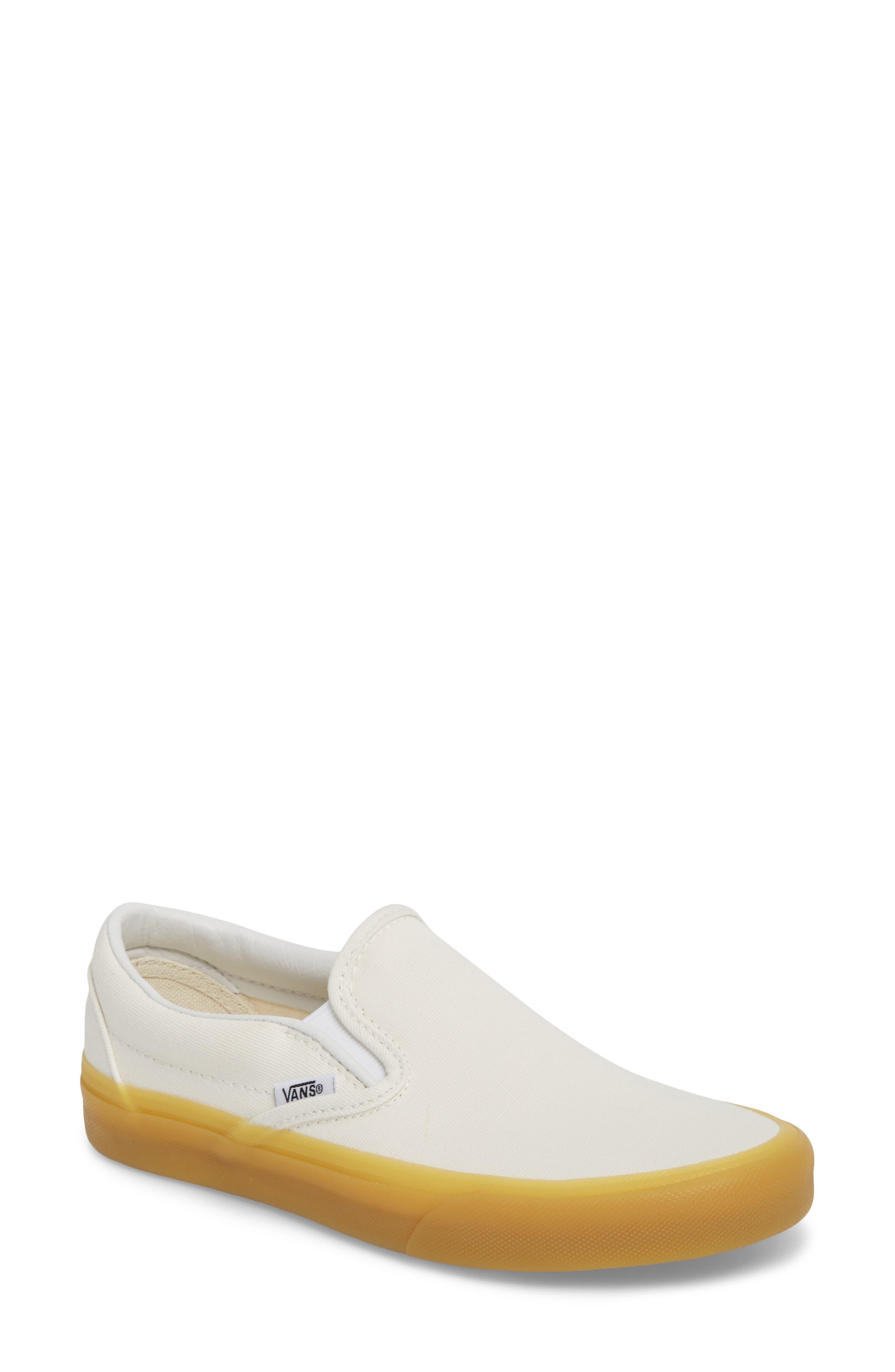 Classic Slip-On Sneaker,                         Main,                         color, MARSHMALLOW/ GUM