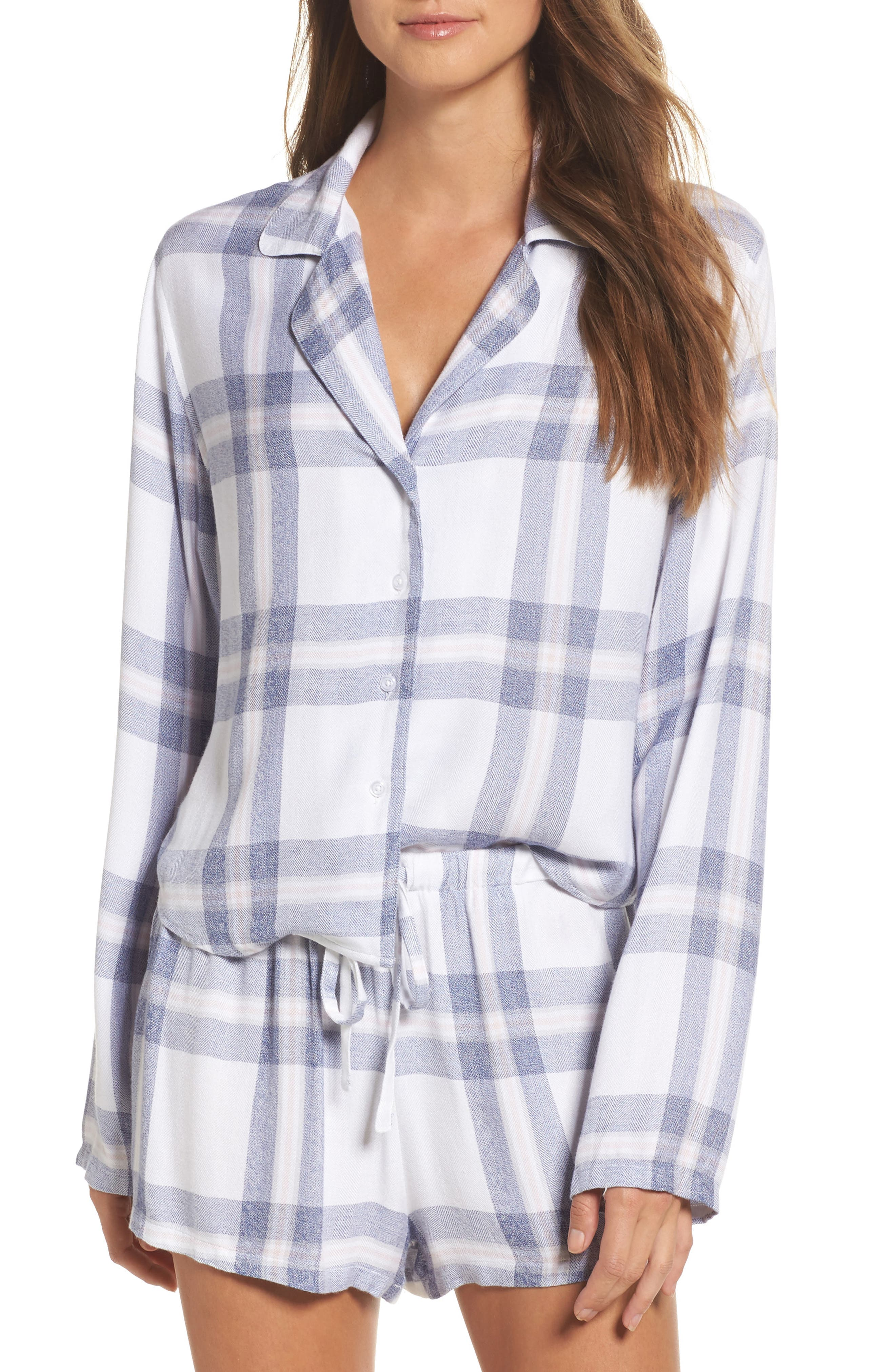 Plaid Short Pajamas,                         Main,                         color,