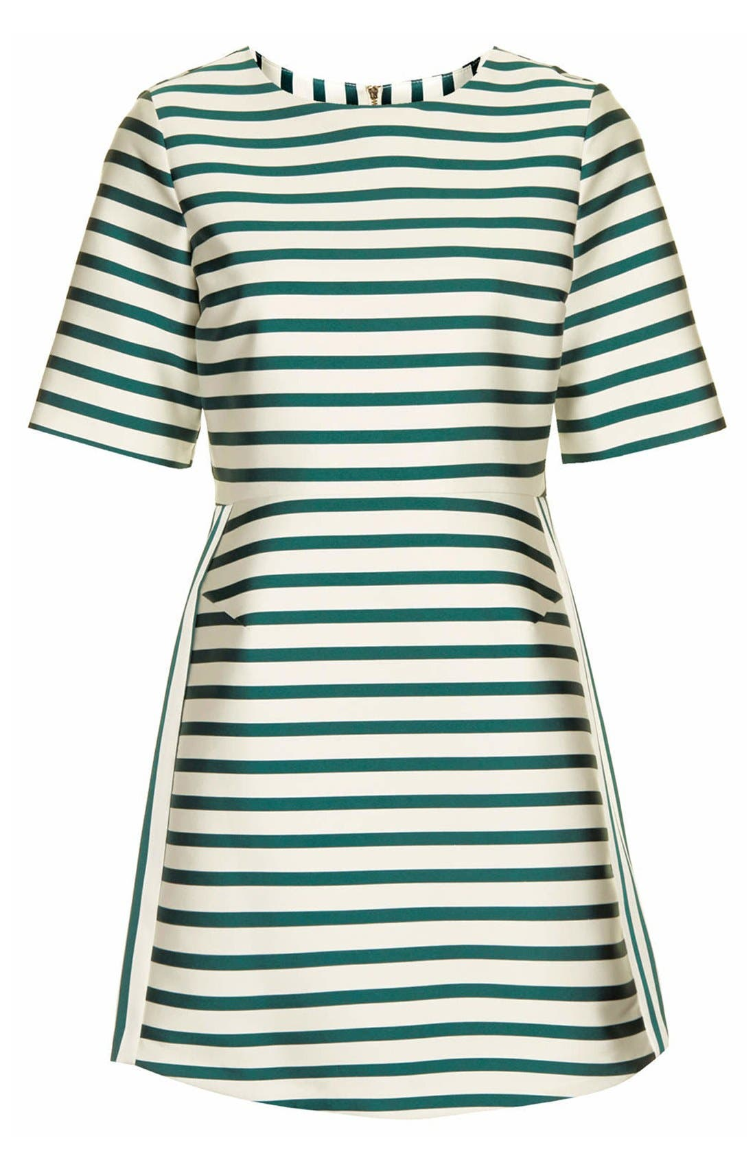Stripe Satin Dress,                             Alternate thumbnail 9, color,