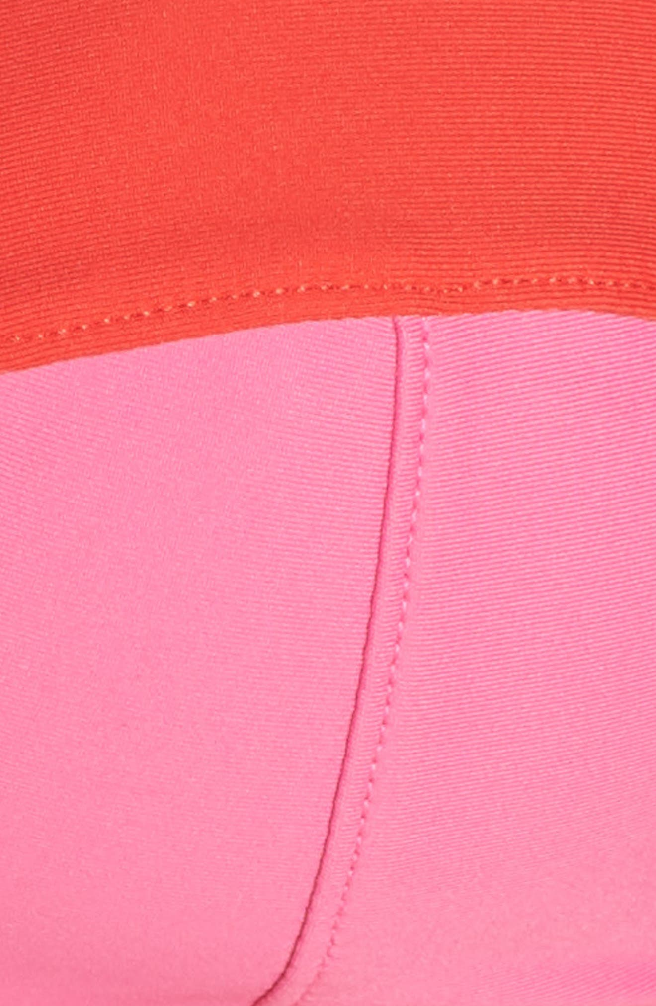 Colorblock Underwire Bikini Top,                             Alternate thumbnail 6, color,                             MINT CERISE PINK