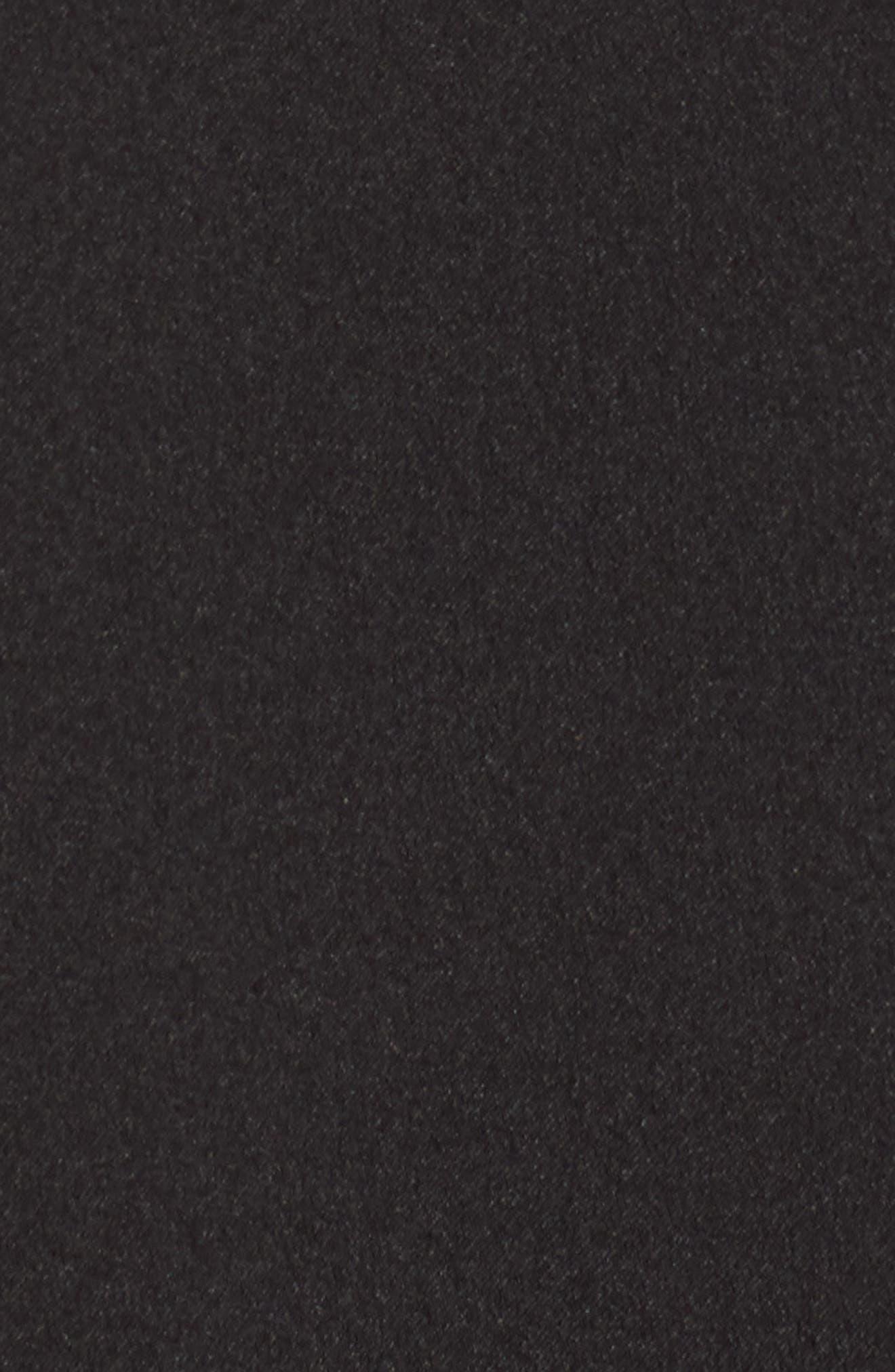 Short Sleeve Ruffle Hem Dress,                             Alternate thumbnail 6, color,                             001