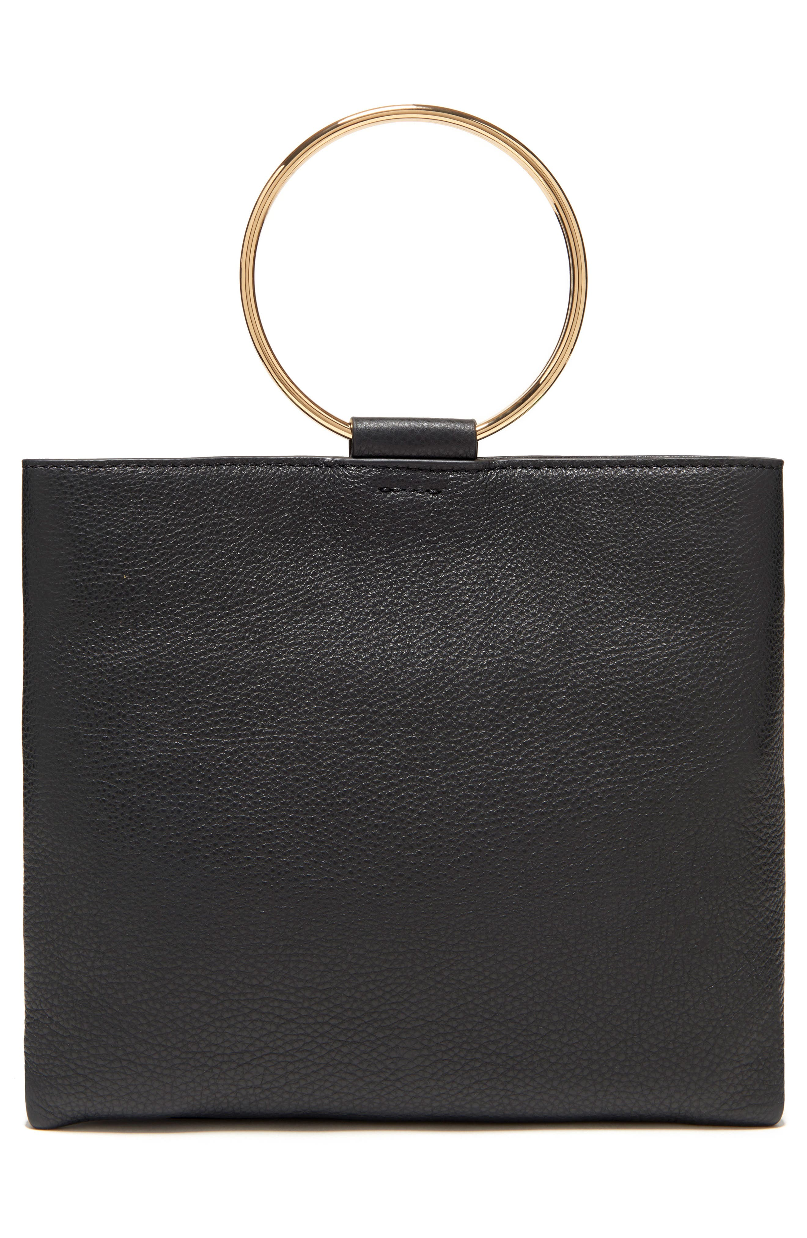 THACKER,                             Le Pouch Leather Ring Handle Crossbody Bag,                             Alternate thumbnail 2, color,                             001