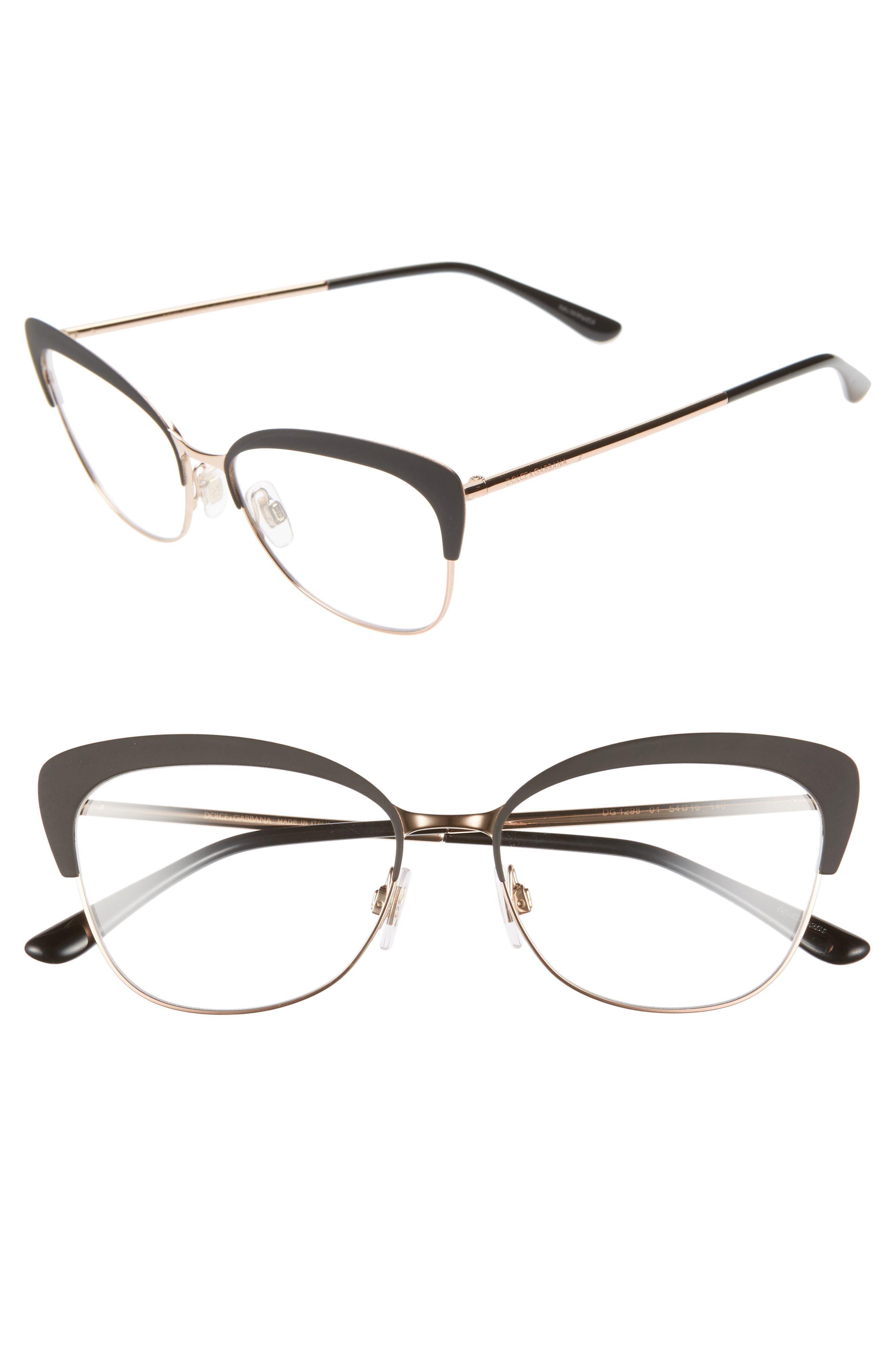 54mm Optical Glasses,                             Main thumbnail 1, color,                             BLACK/ PINK
