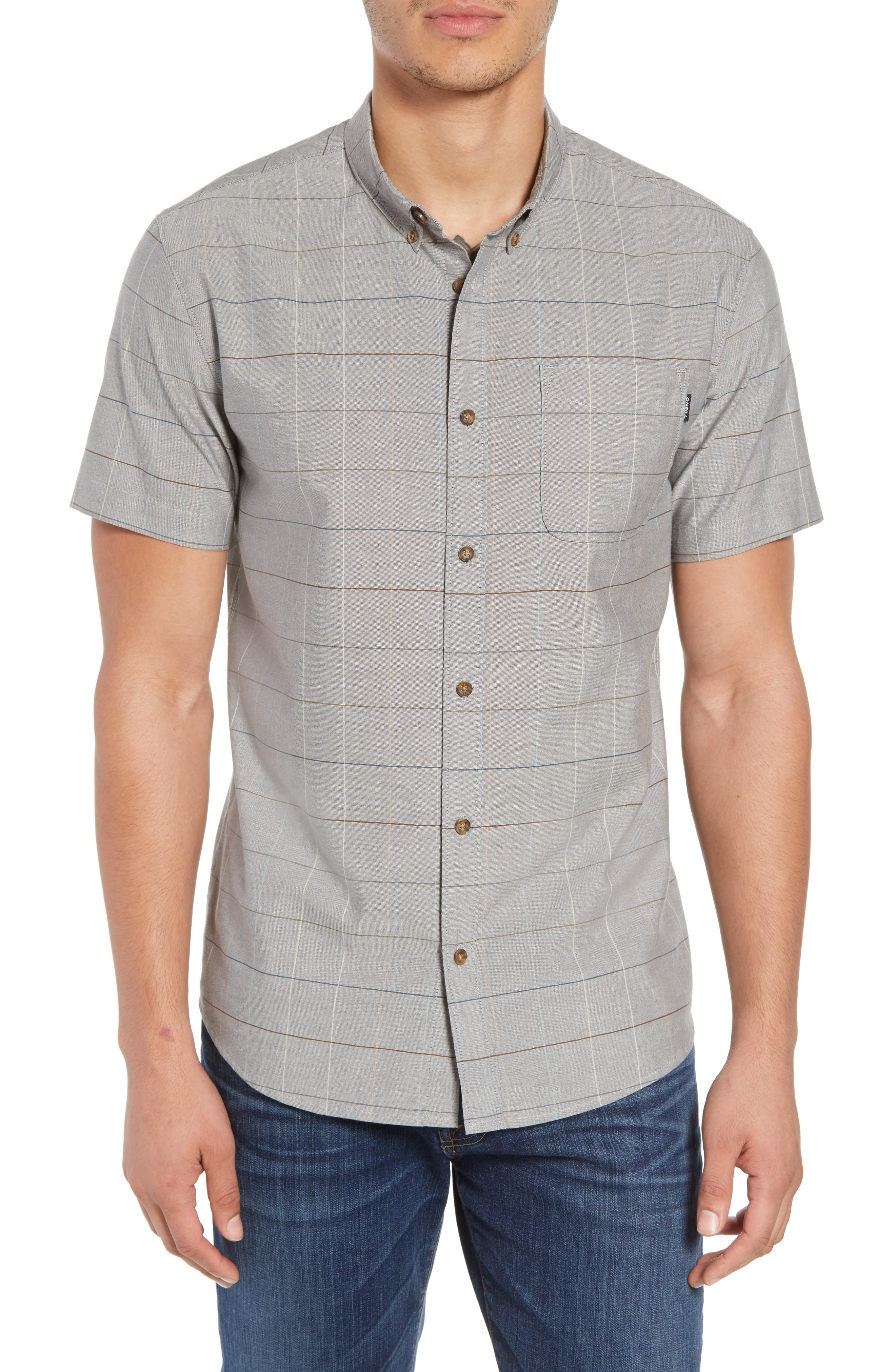 Gridlock Check Woven Shirt,                             Main thumbnail 1, color,                             020