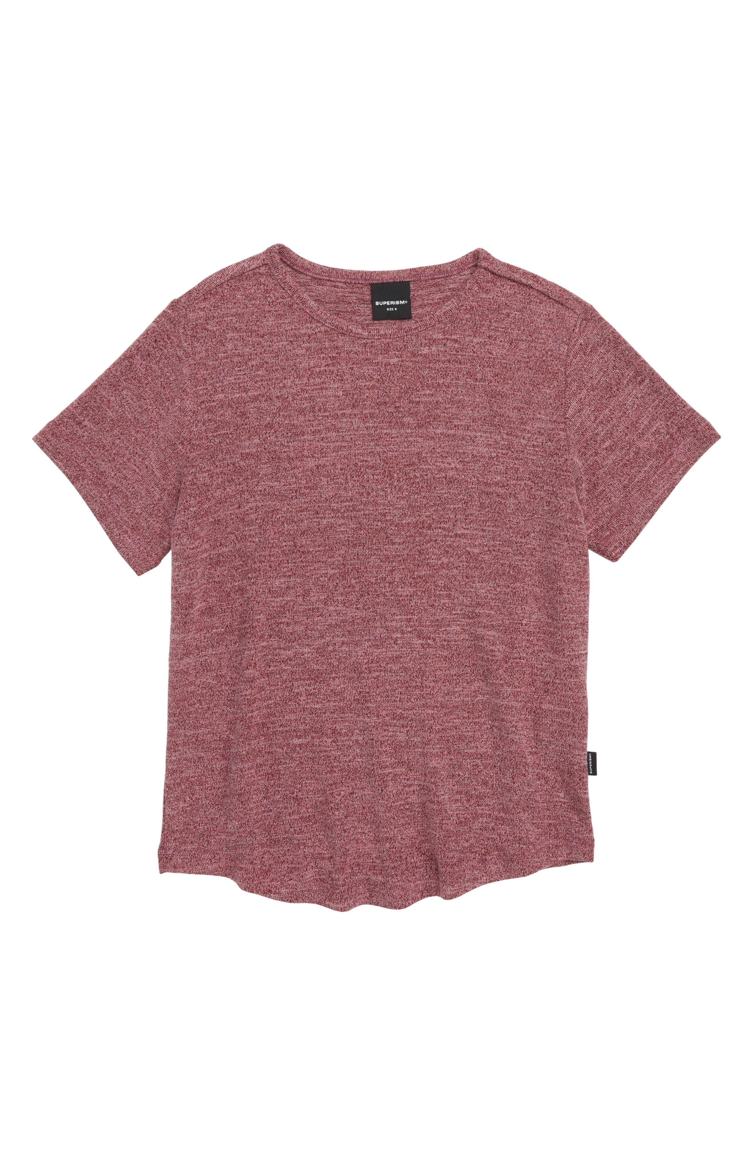 Landon Stretch T-Shirt,                             Main thumbnail 1, color,                             BURGUNDY