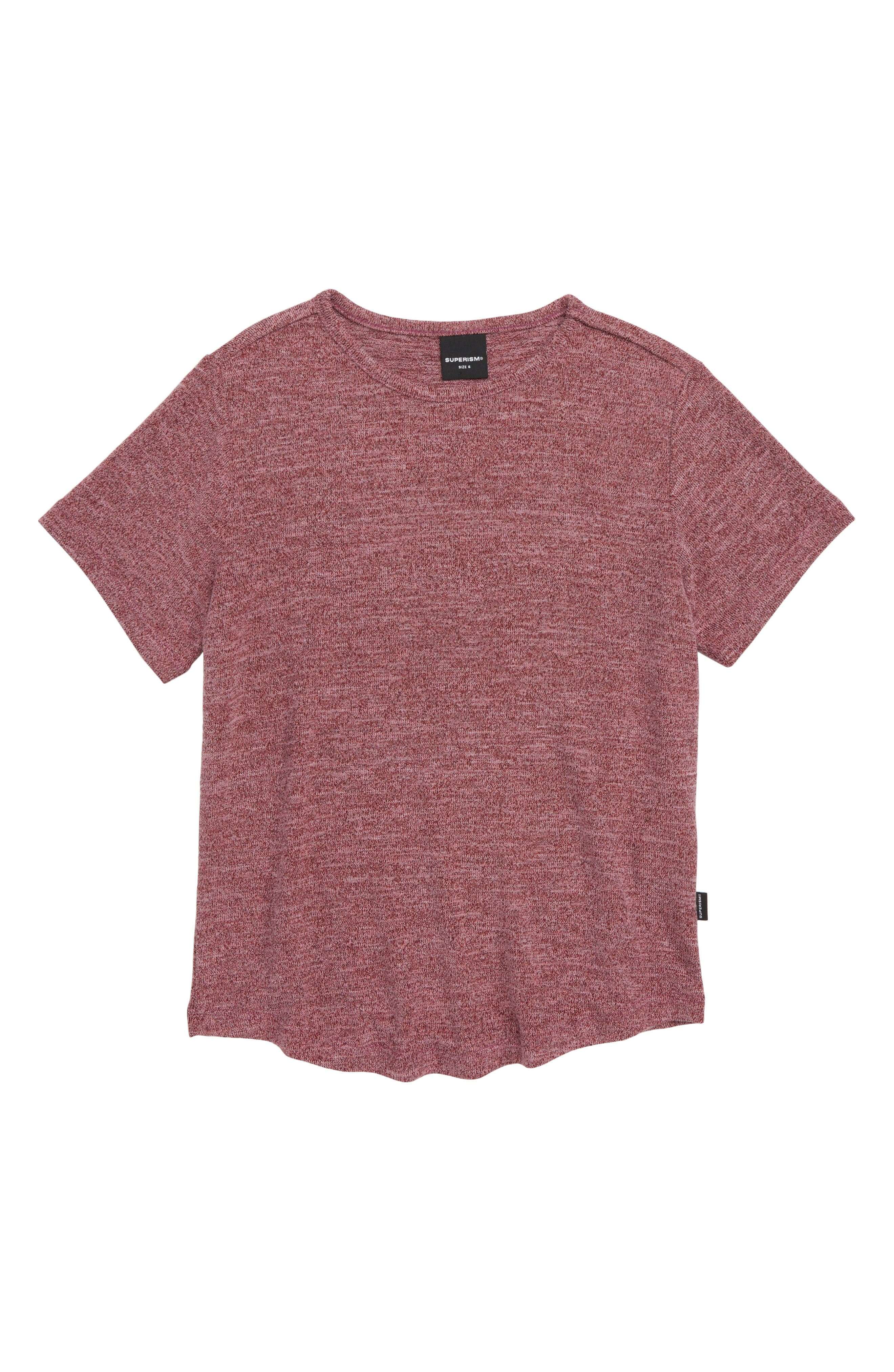Landon Stretch T-Shirt,                         Main,                         color, BURGUNDY