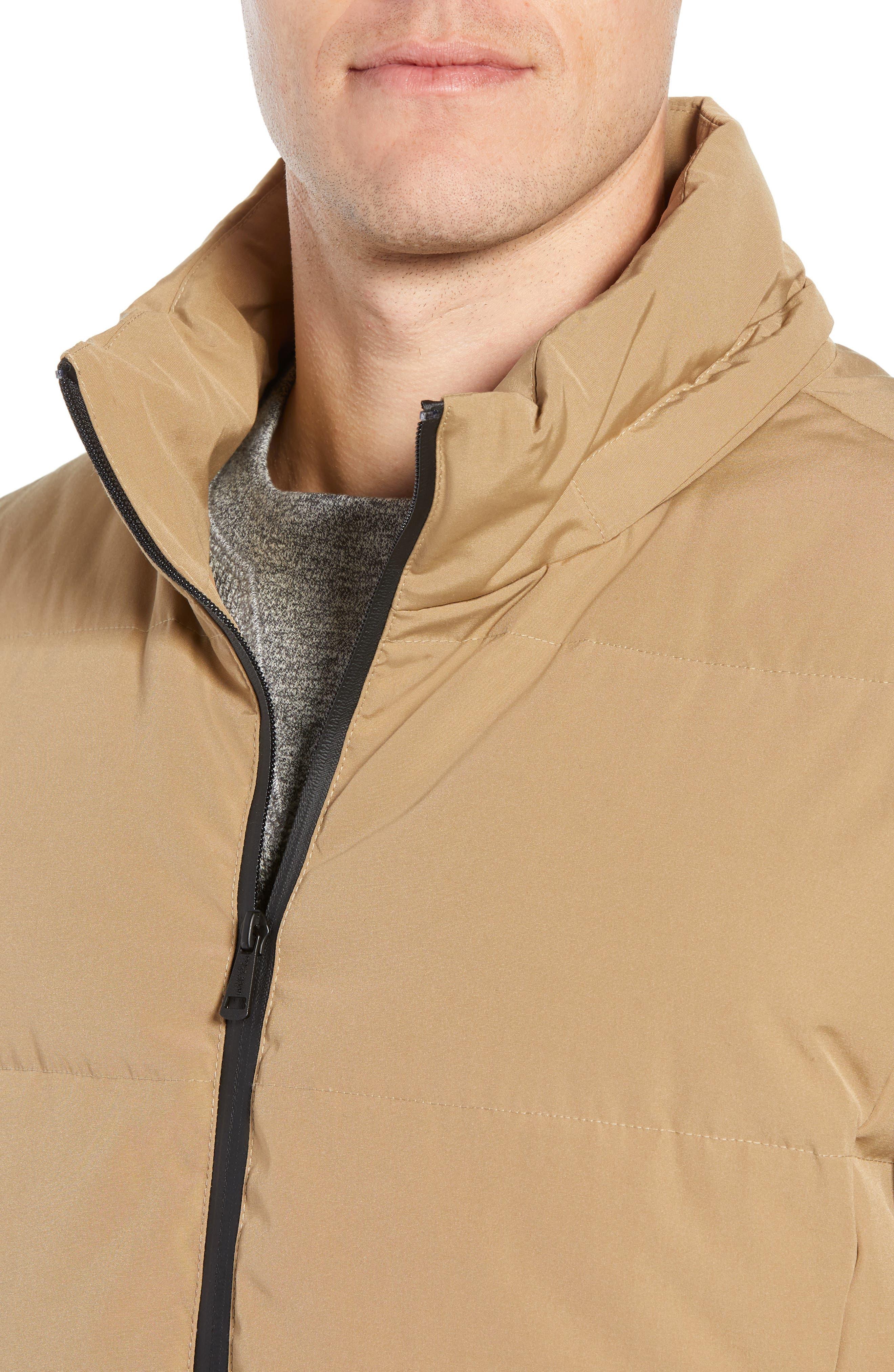 Hooded Puffer Jacket,                             Alternate thumbnail 4, color,                             KHAKI