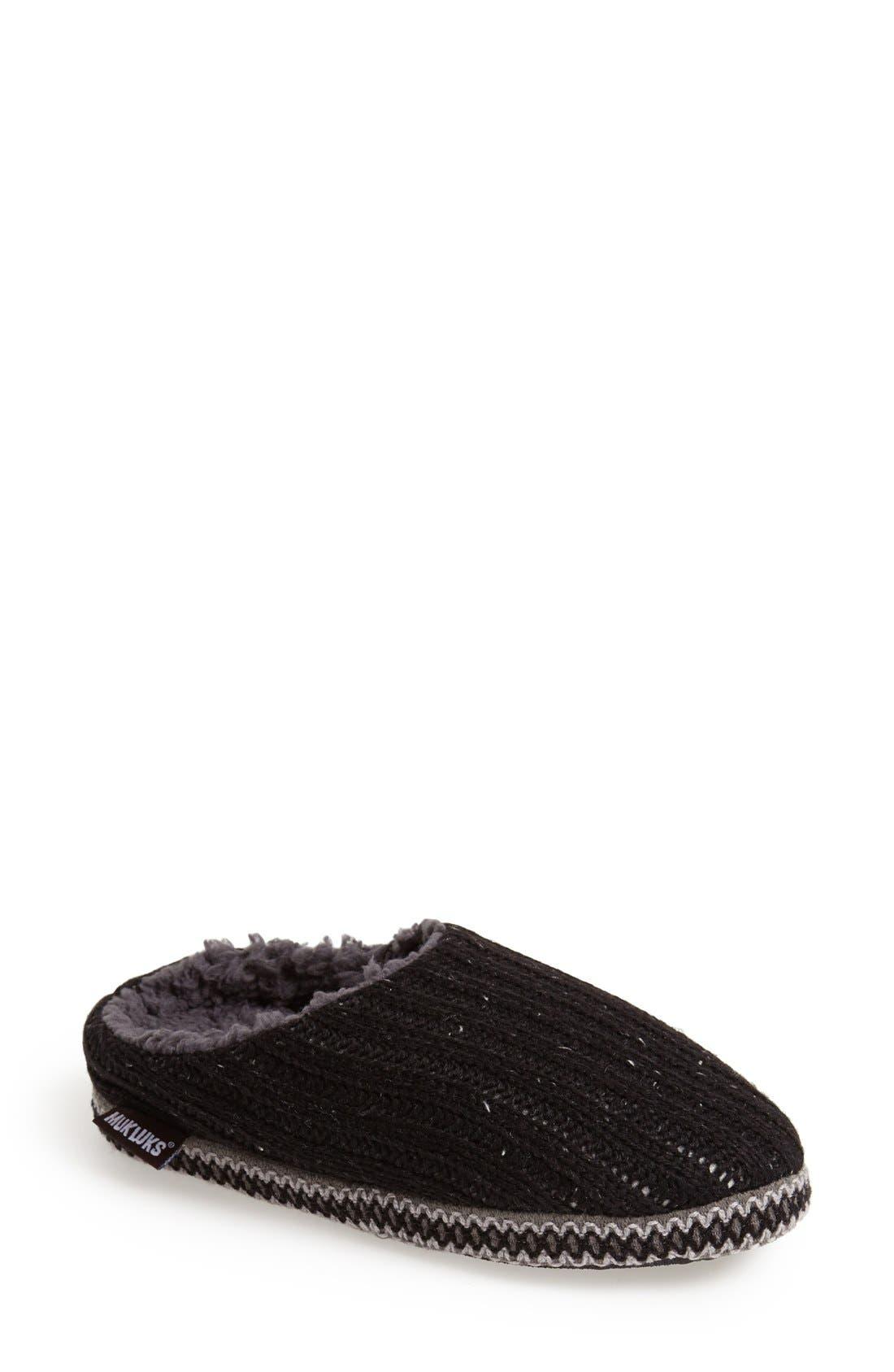 MUK LUKS 'Lucia' Knit Scuff Slipper, Main, color, 021