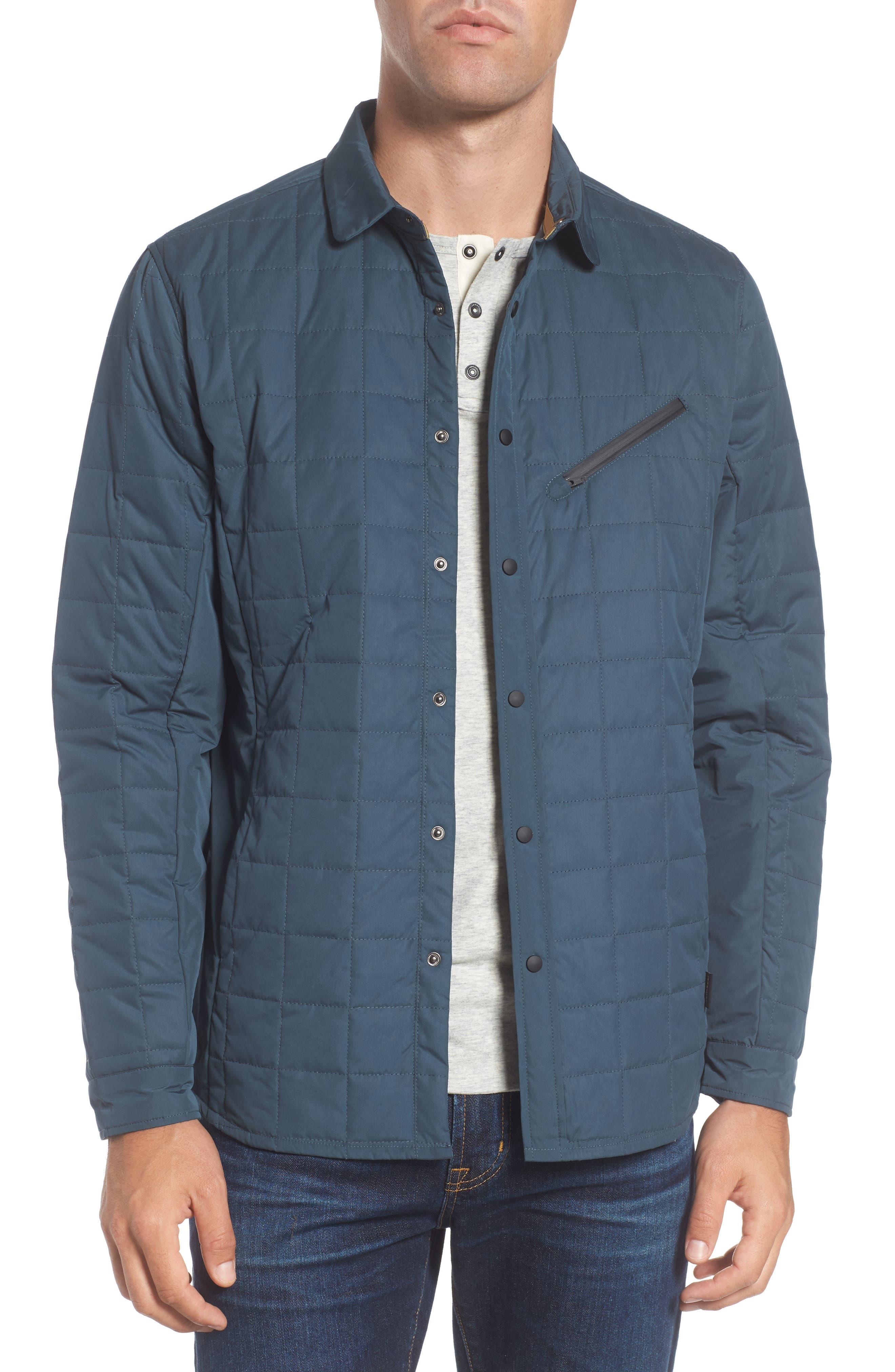 Bixby Quilted Shirt Jacket,                             Main thumbnail 1, color,                             FLOOD
