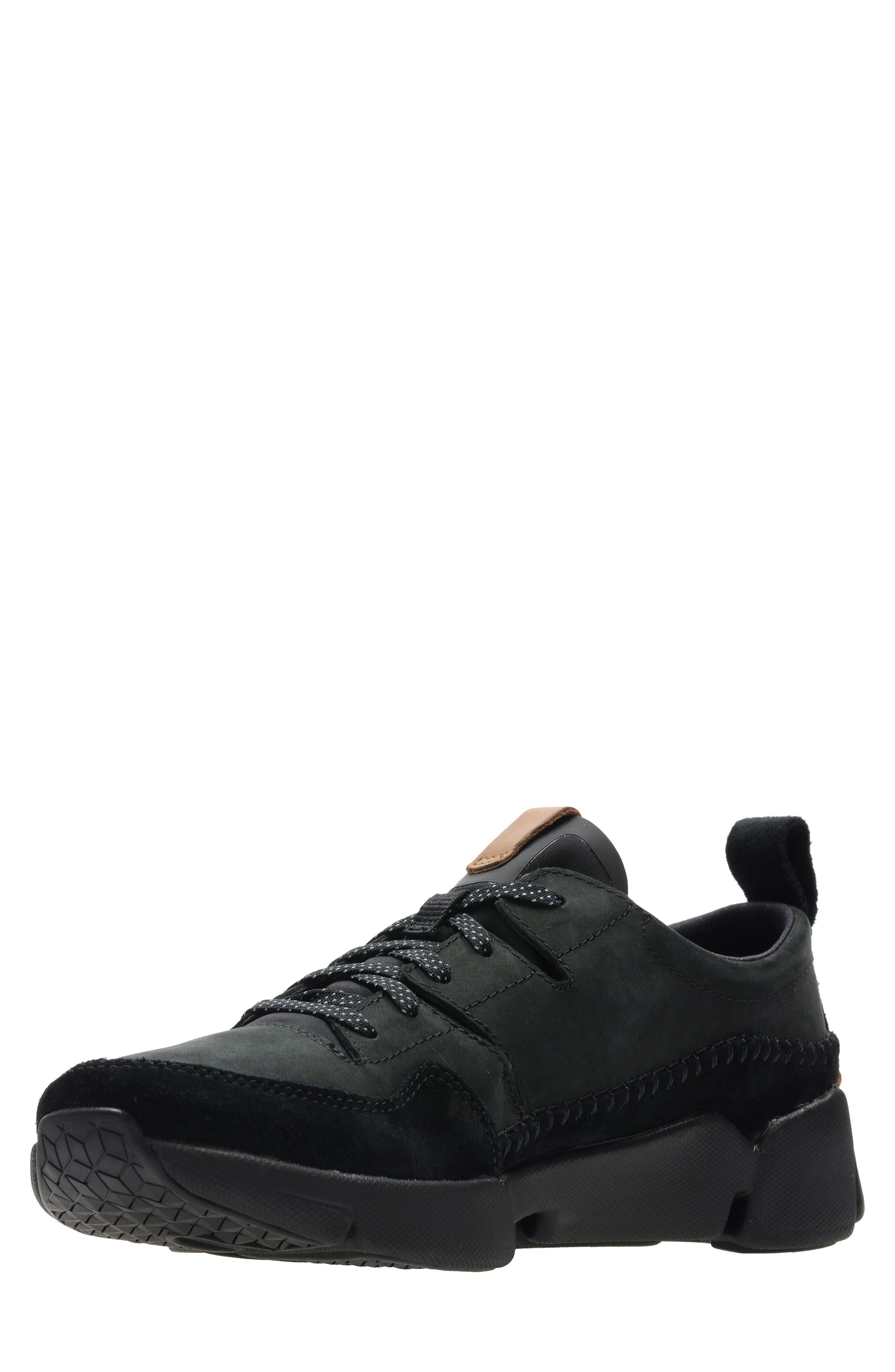 Tri-Active Run Sneaker,                             Alternate thumbnail 5, color,                             BLACK LEATHER