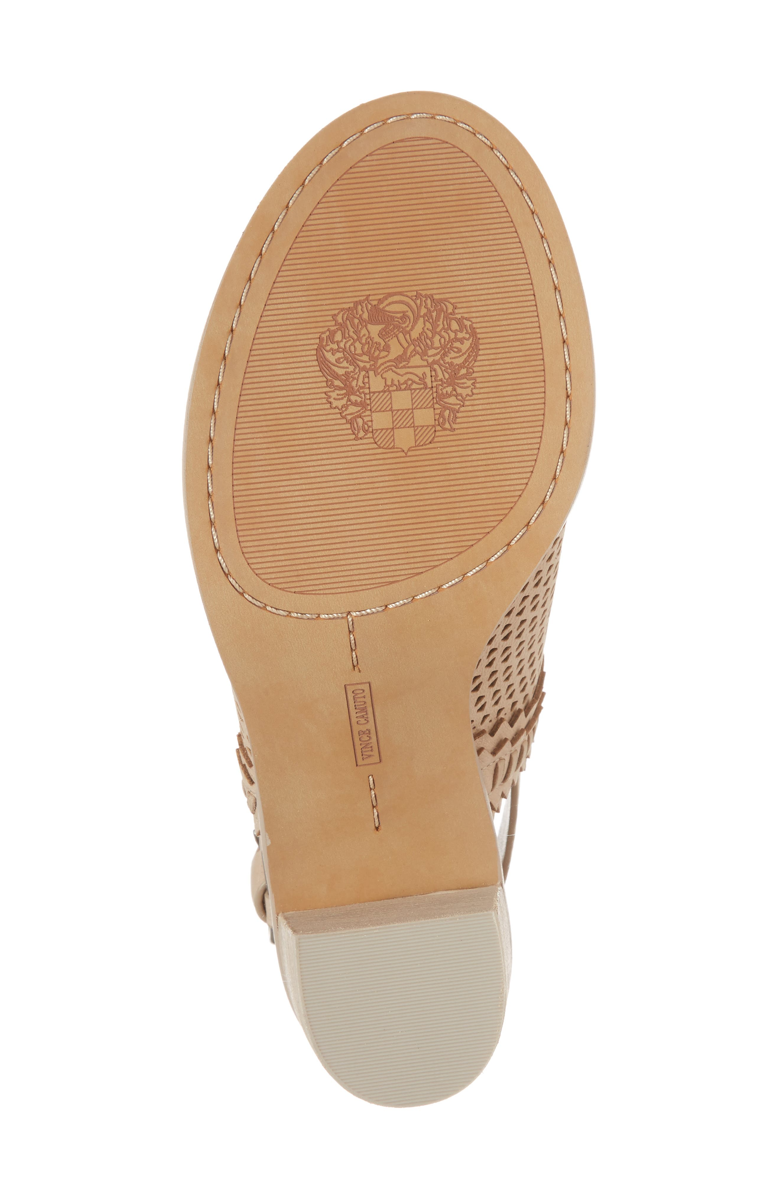 Tricinda Block Heel Sandal,                             Alternate thumbnail 6, color,                             SHELL LEATHER