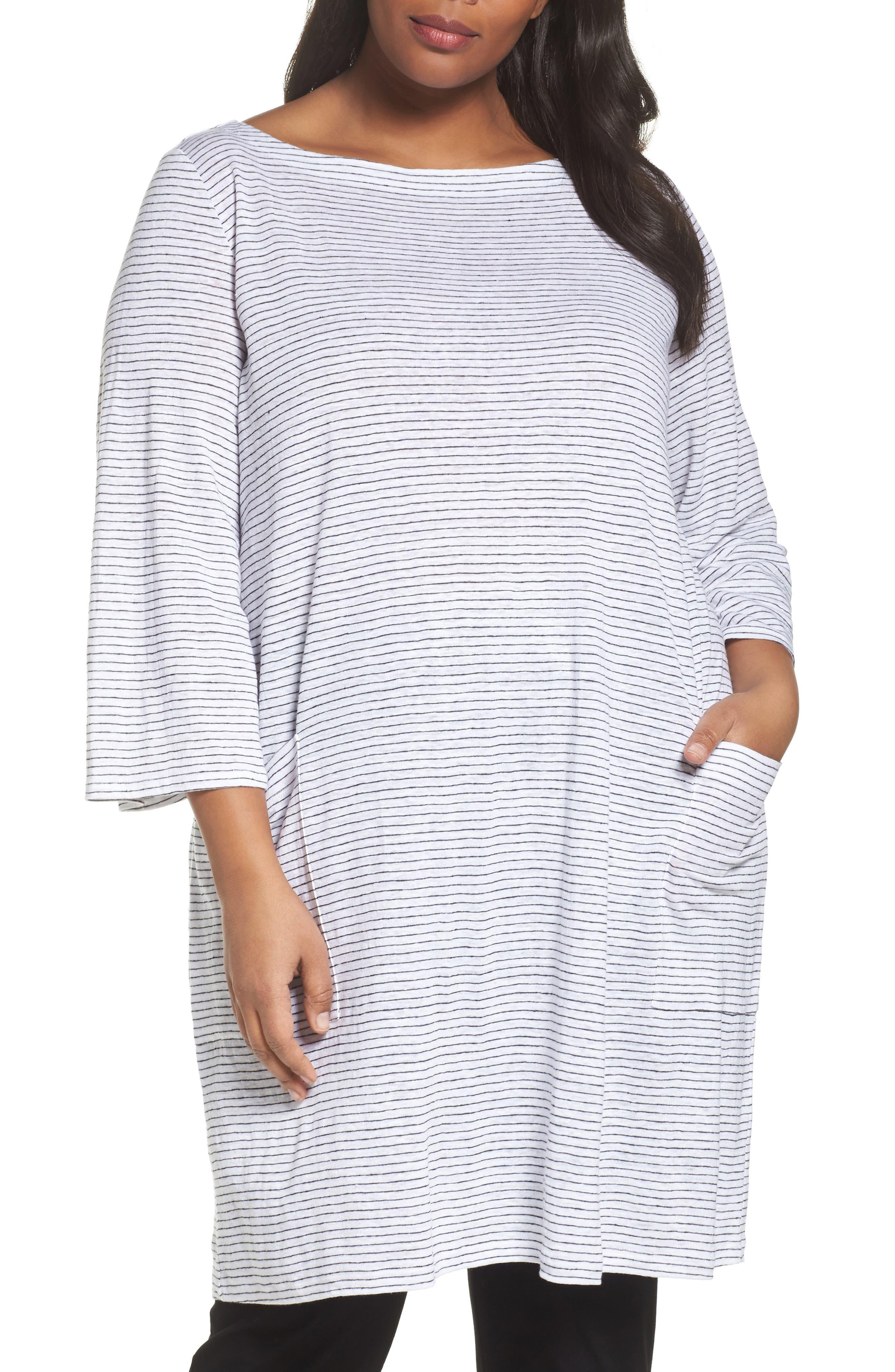 Organic Linen Shift Dress,                         Main,                         color, 120