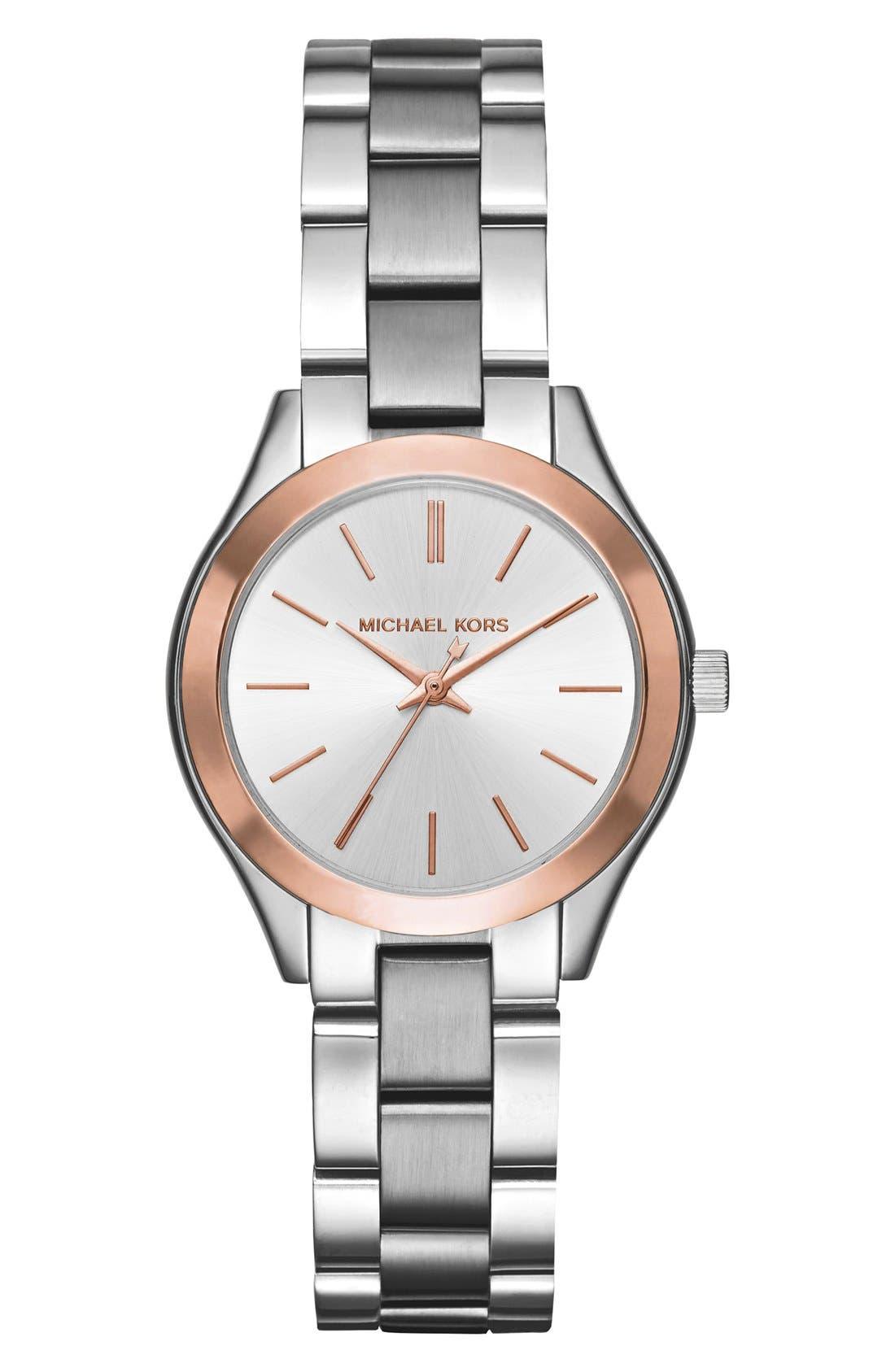 'Slim Runway' Bracelet Watch, 33mm,                         Main,                         color, 040
