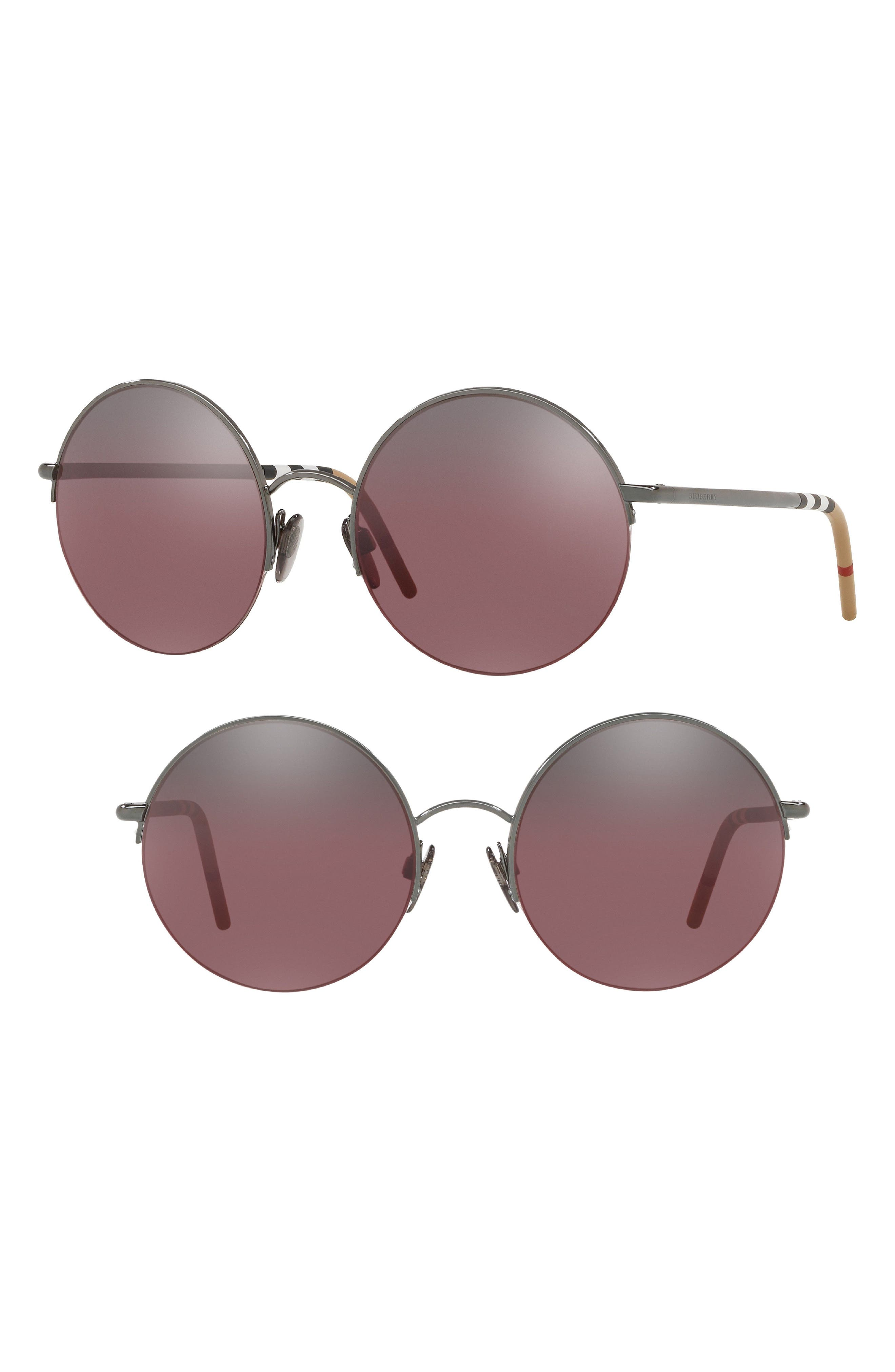 54mm Round Sunglasses,                             Alternate thumbnail 2, color,                             001