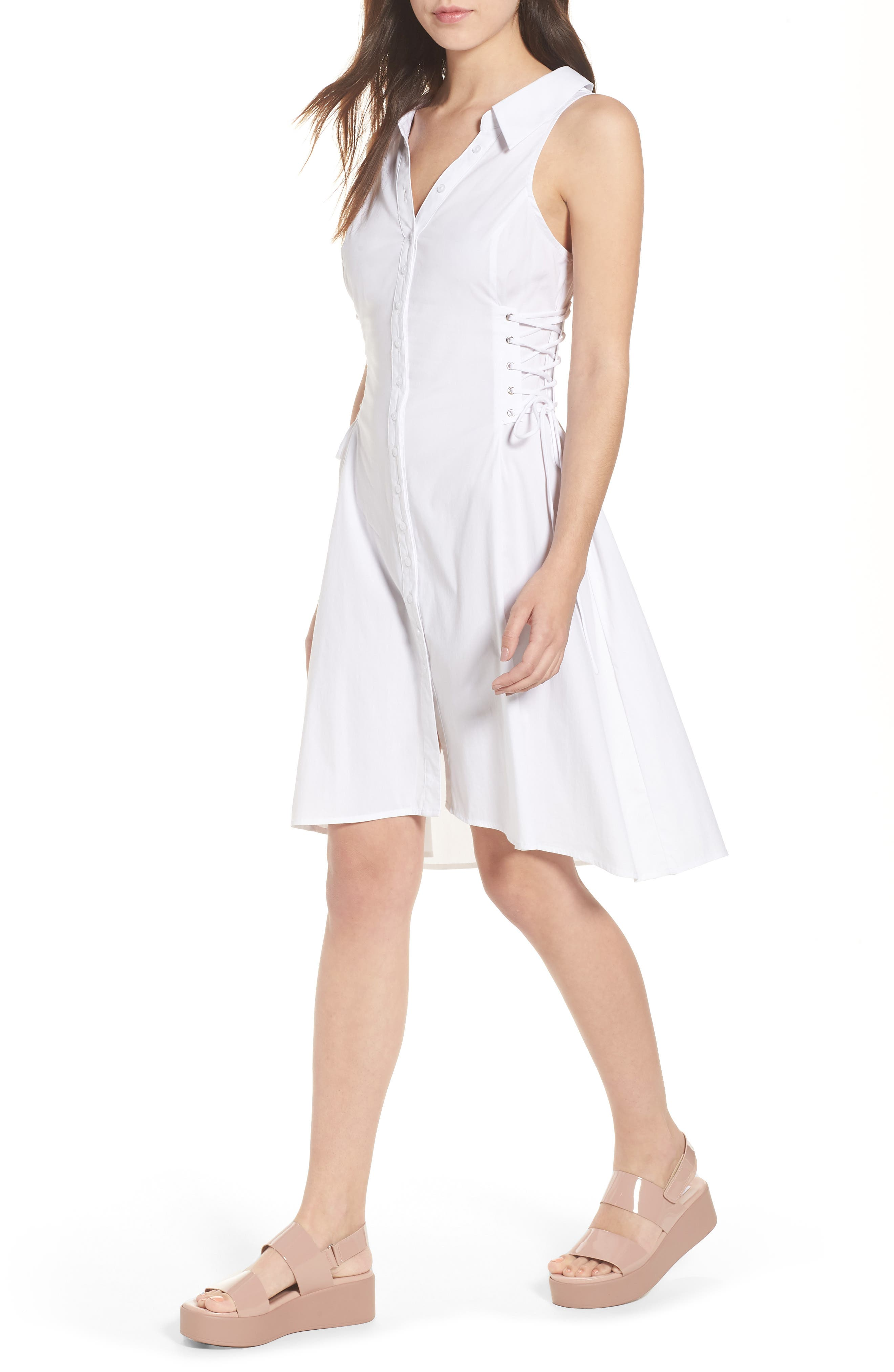 Sydney Lace Side Dress,                             Main thumbnail 1, color,