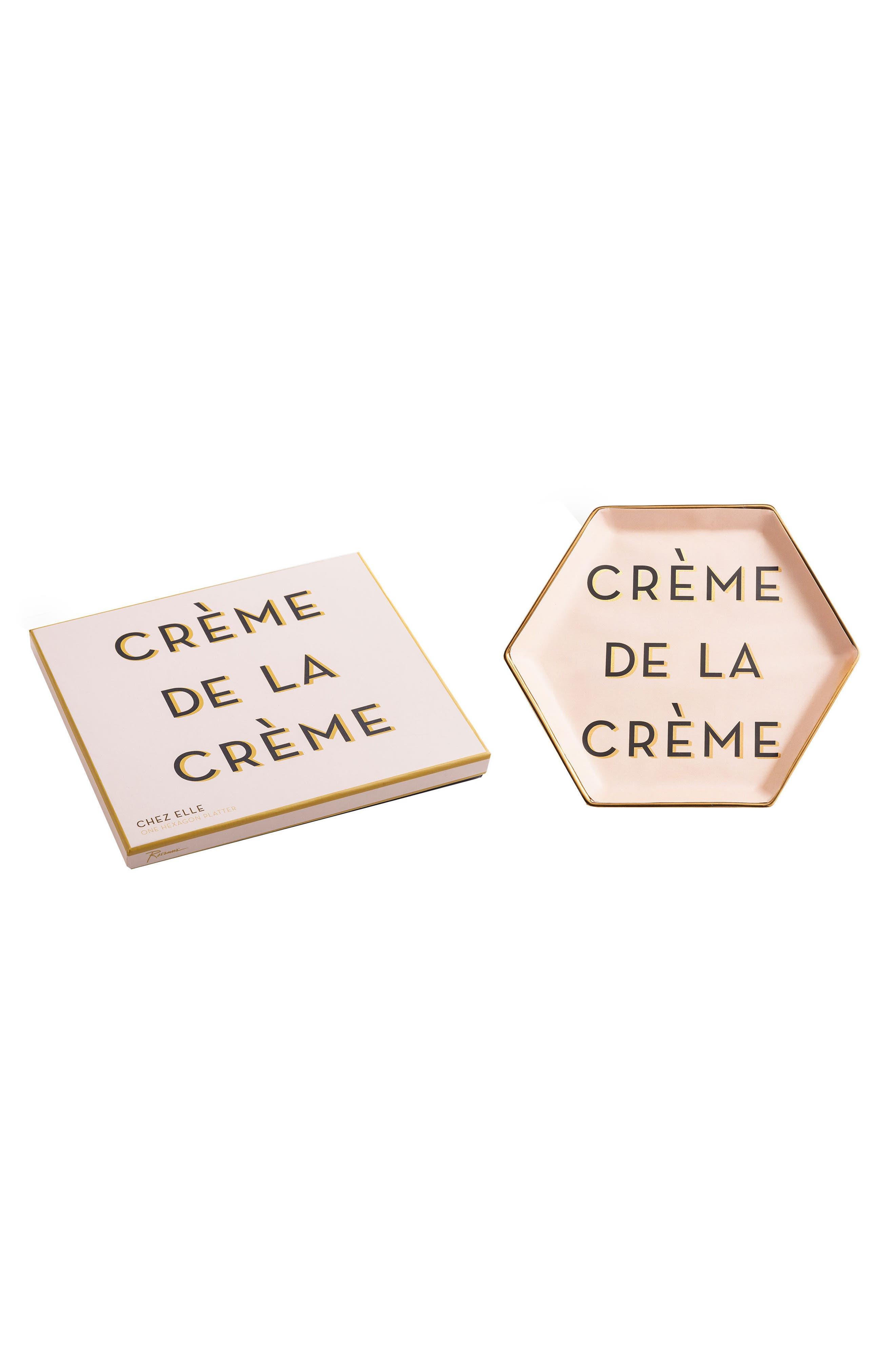 Chez Elle - Crème de la Crème Porcelain Trinket Tray,                             Main thumbnail 1, color,                             650