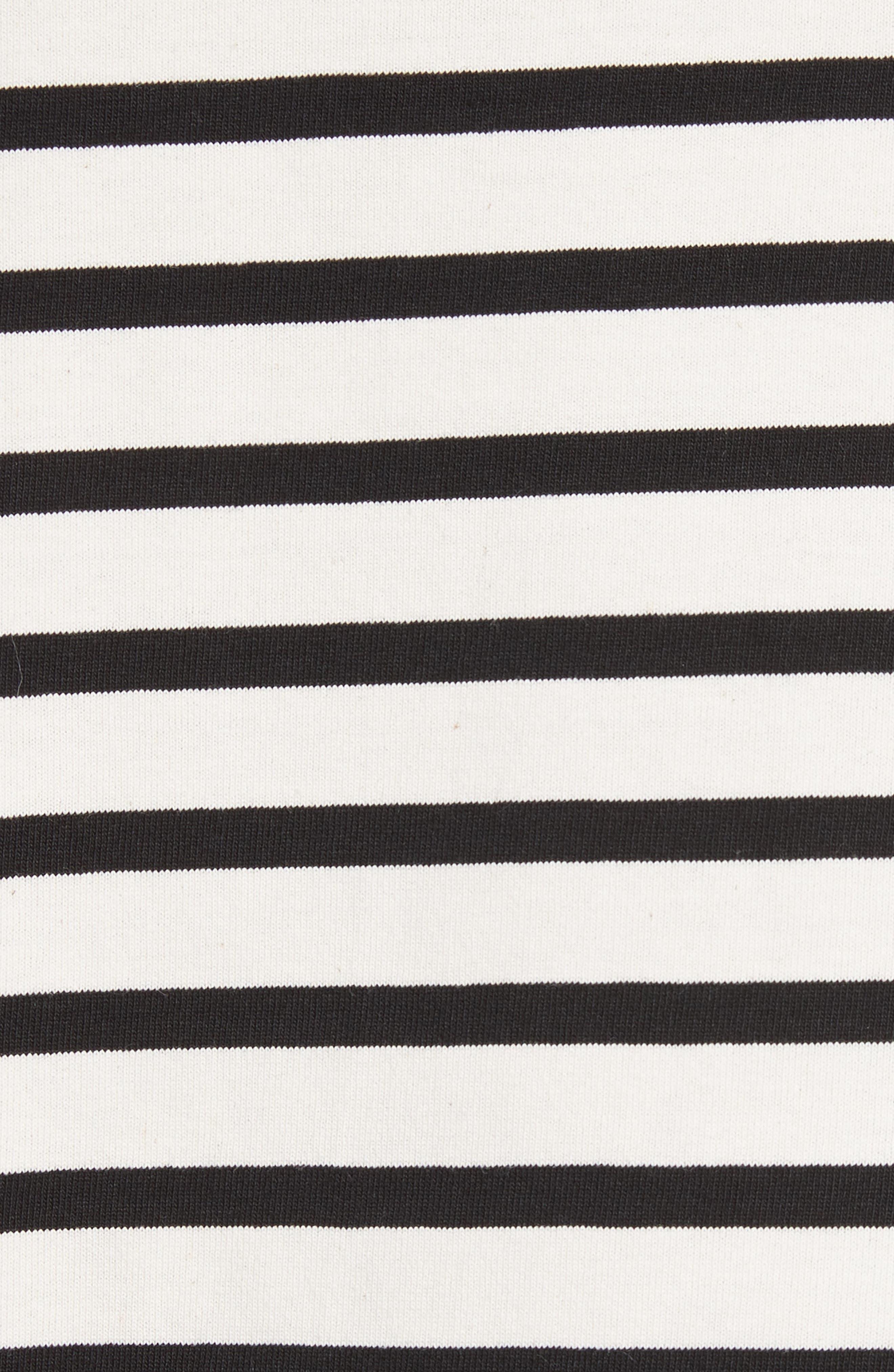 Pompom Stripe Tee,                             Alternate thumbnail 5, color,