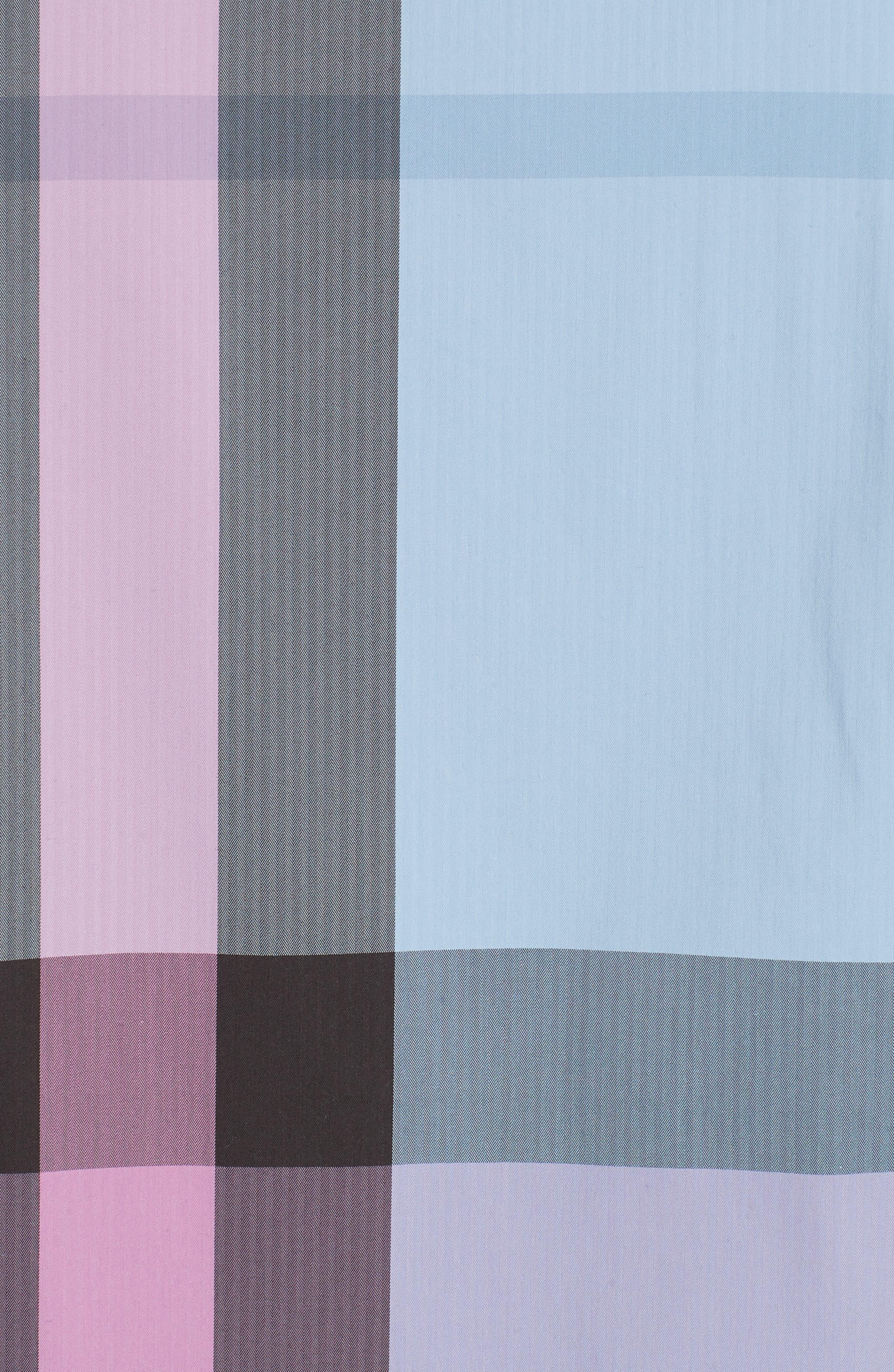 Thornaby Slim Fit Check Sport Shirt,                             Alternate thumbnail 5, color,                             CHALK BLUE IP CHK