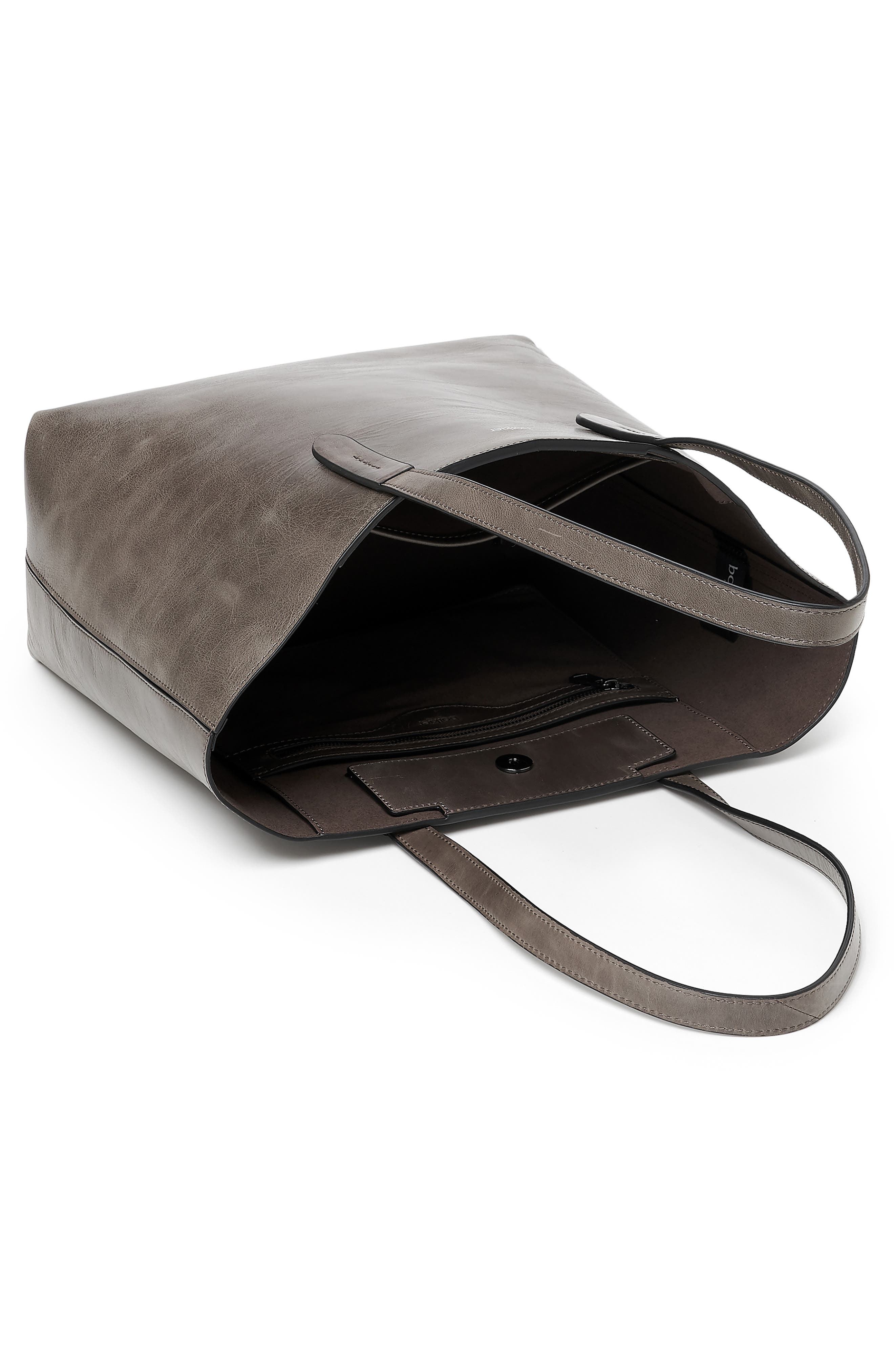 Highline Leather Tote,                             Alternate thumbnail 3, color,                             WINTER GREY