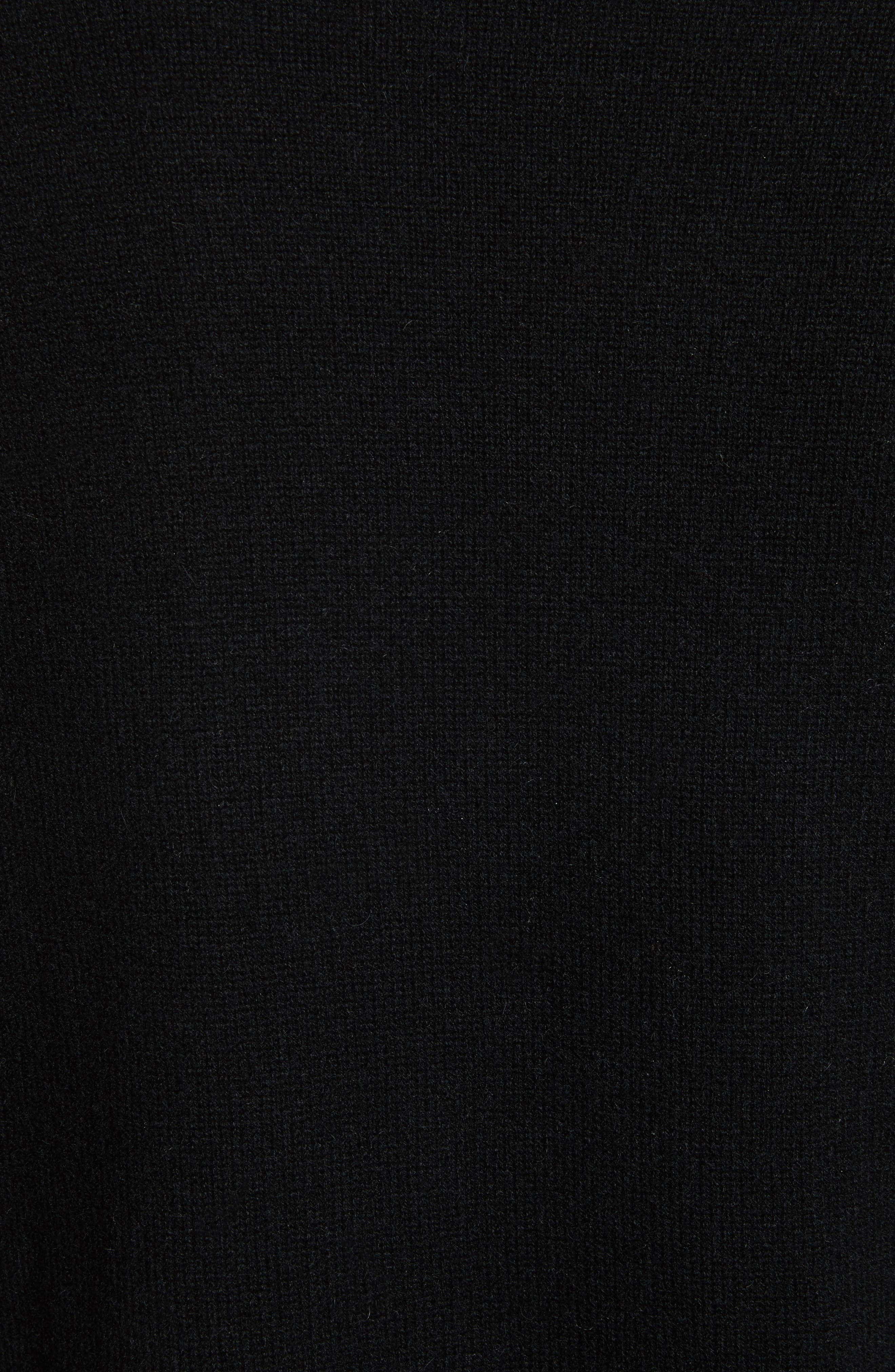 Open Front Cashmere Long Cardigan,                             Alternate thumbnail 5, color,                             001