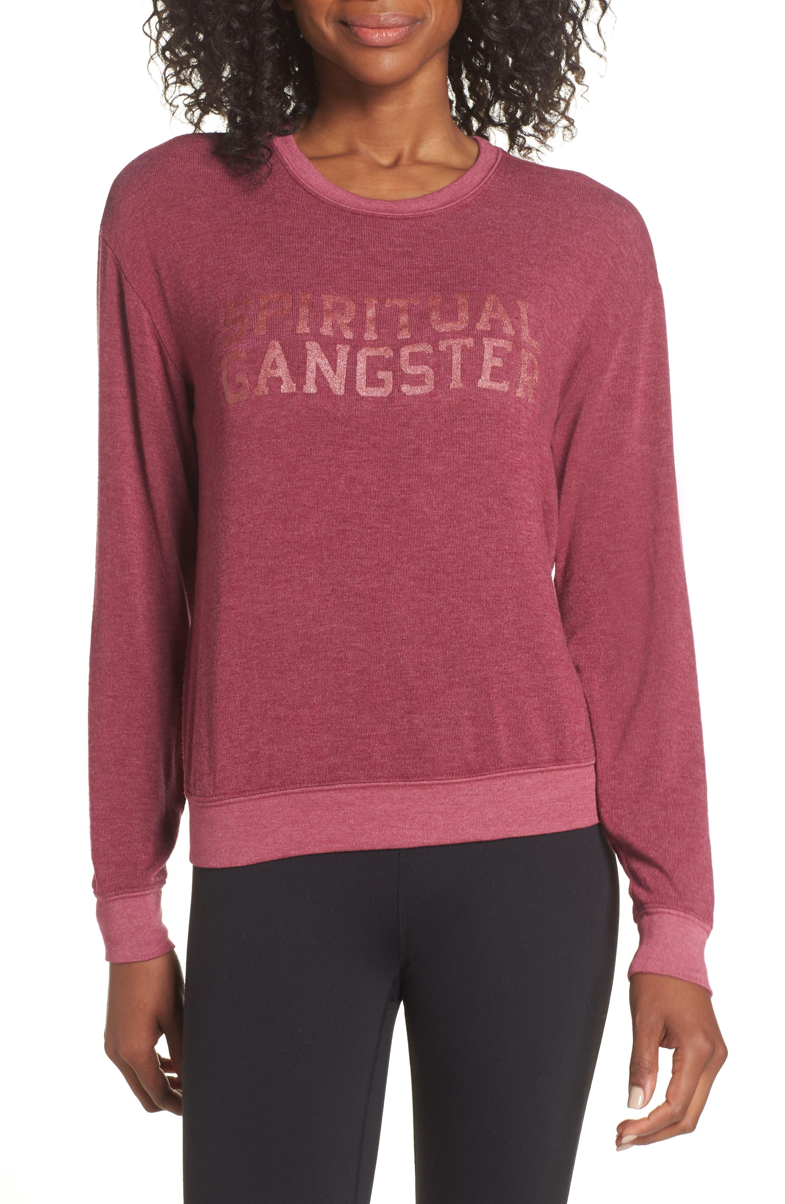 Varsity Crop Sweatshirt,                             Main thumbnail 1, color,                             AMOR