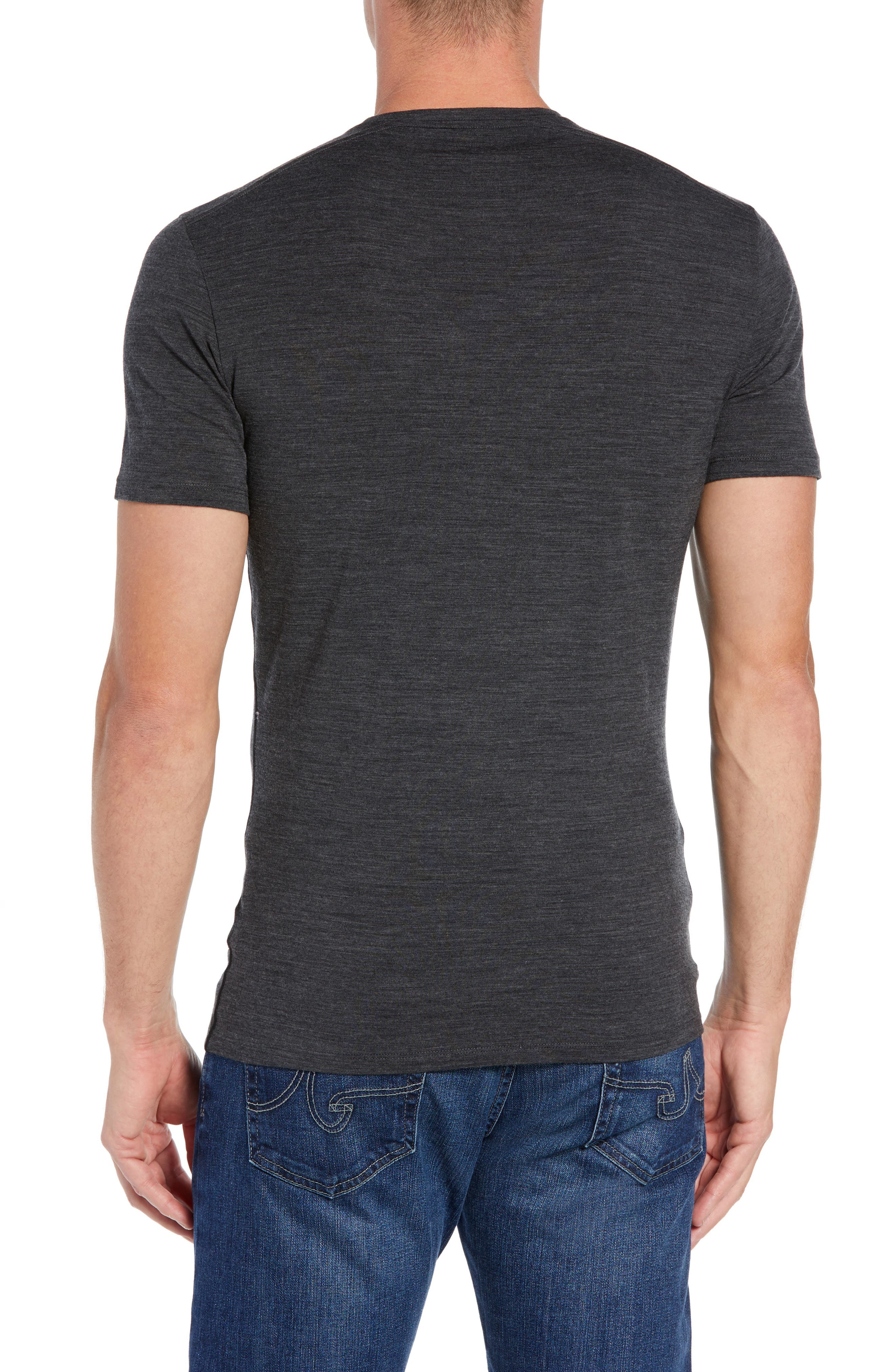 Anatomica Short Sleeve Crewneck T-Shirt,                             Alternate thumbnail 2, color,                             JET HEATHER/ BLACK