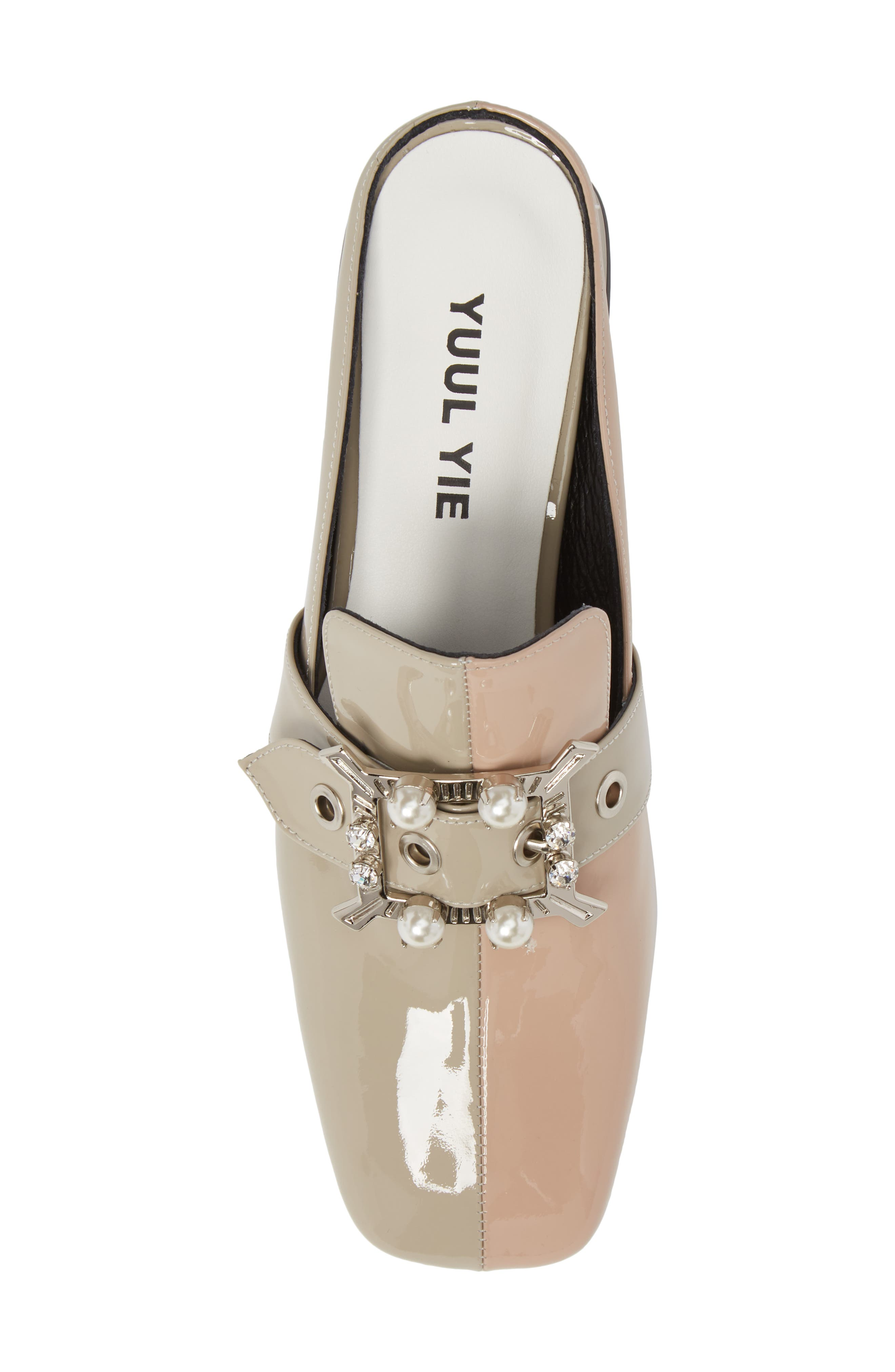 Embellished Loafer Mule,                             Alternate thumbnail 5, color,                             PINK BEIGE/ CEMENT