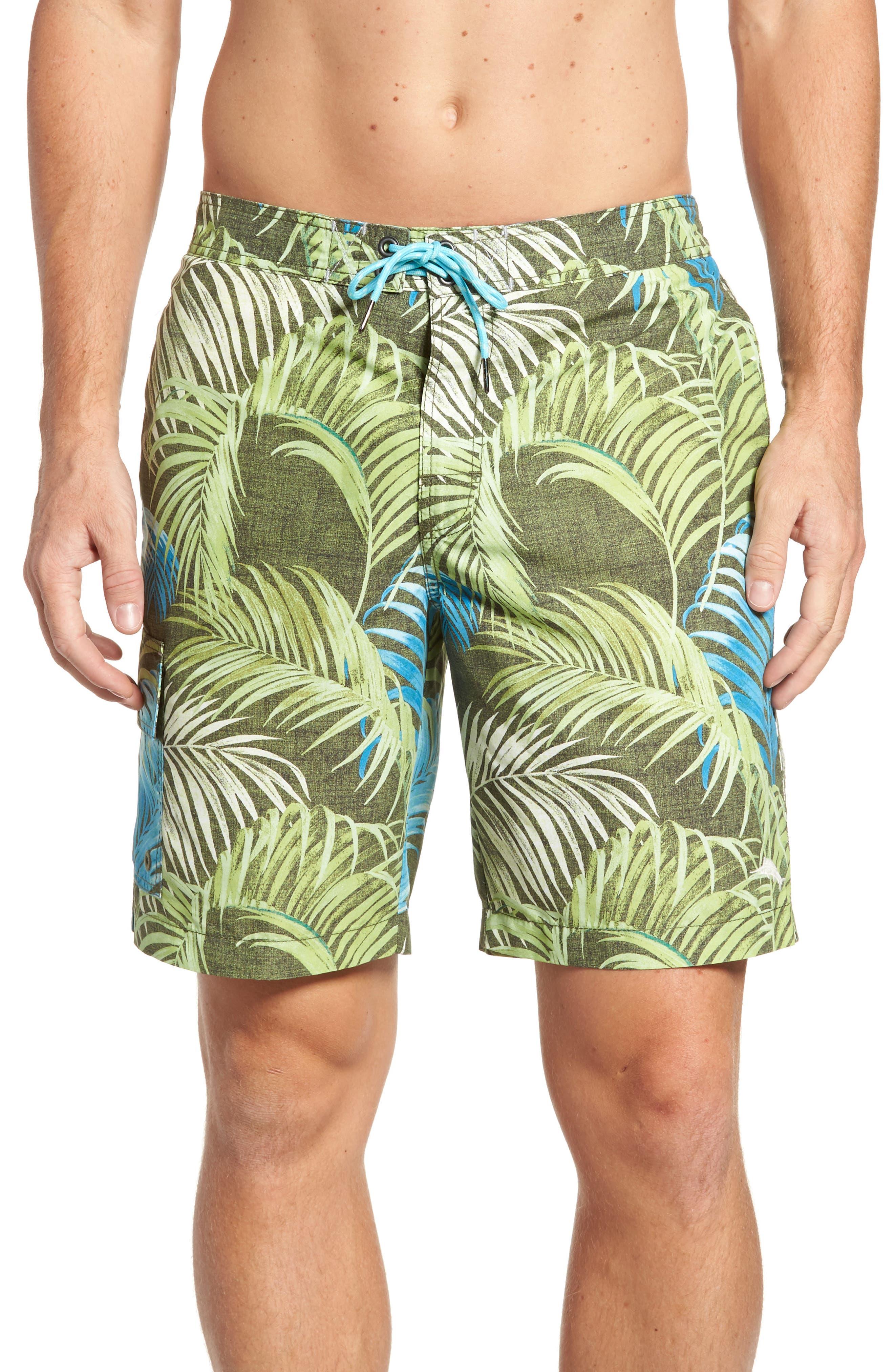 Baja Fez Frond Board Shorts,                             Main thumbnail 1, color,