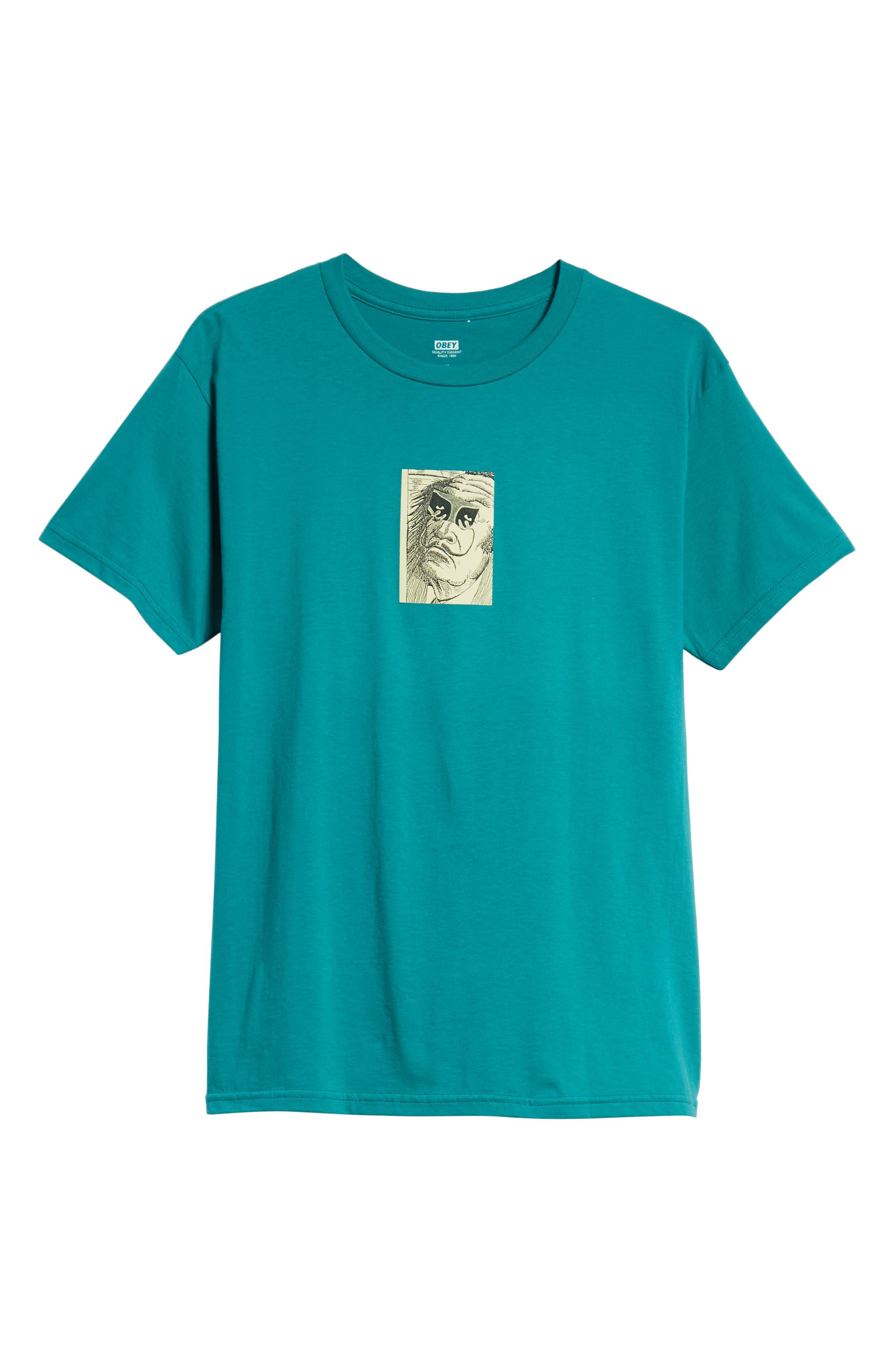Metamorphosis Premium T-Shirt,                             Alternate thumbnail 6, color,                             TEAL