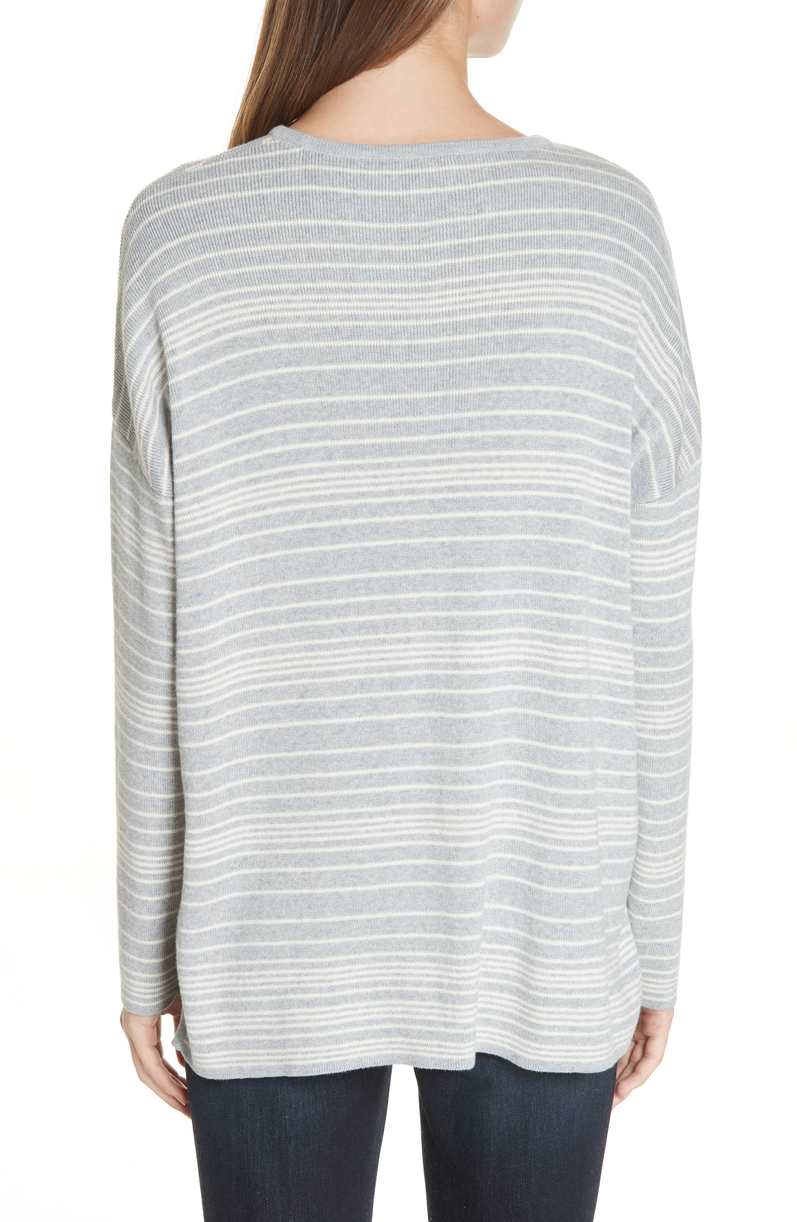 Stripe Organic Cotton Sweater,                             Alternate thumbnail 2, color,                             038