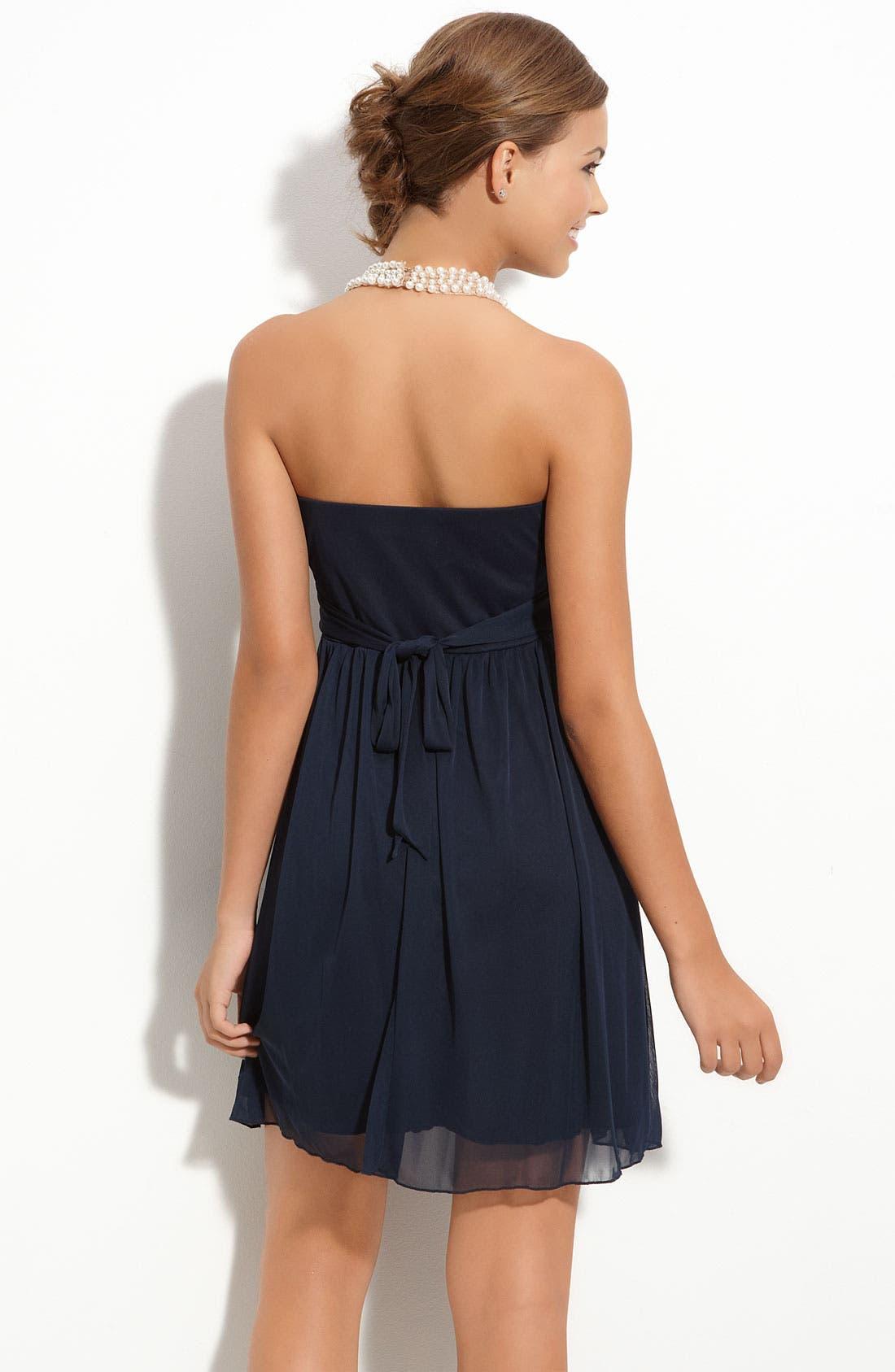 Pearl Neckline Halter Dress,                             Alternate thumbnail 2, color,                             410