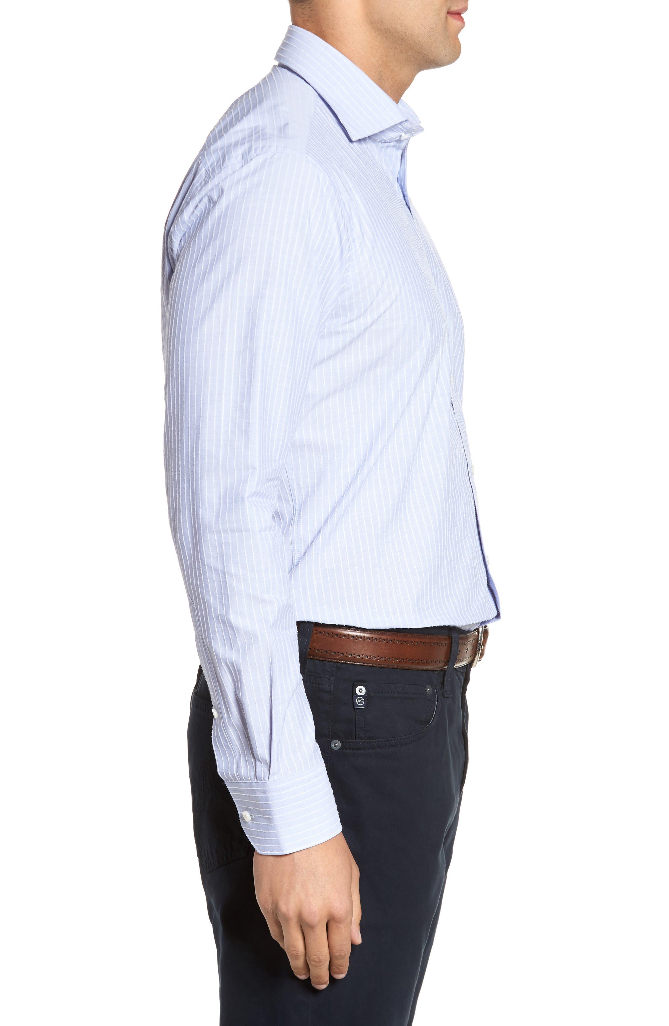 Cejar Stripe Sport Shirt,                             Alternate thumbnail 3, color,                             433