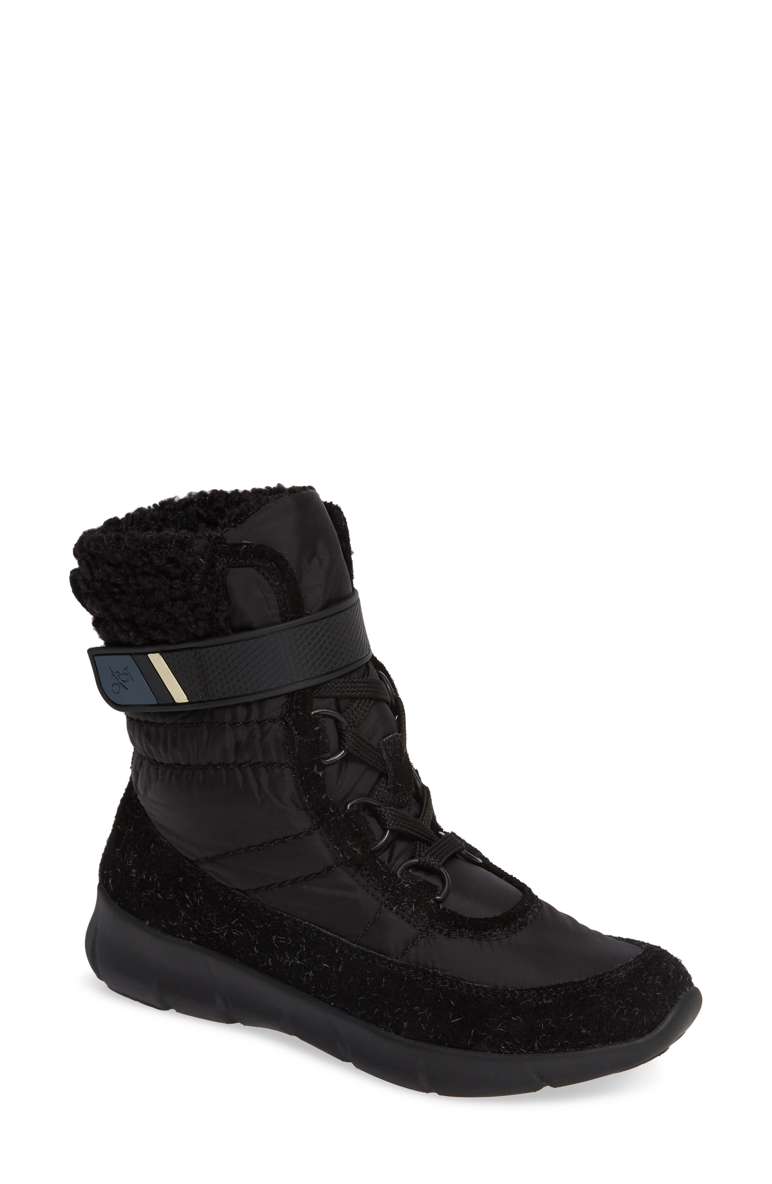 Pioneer Bootie,                             Main thumbnail 1, color,                             BLACK FABRIC