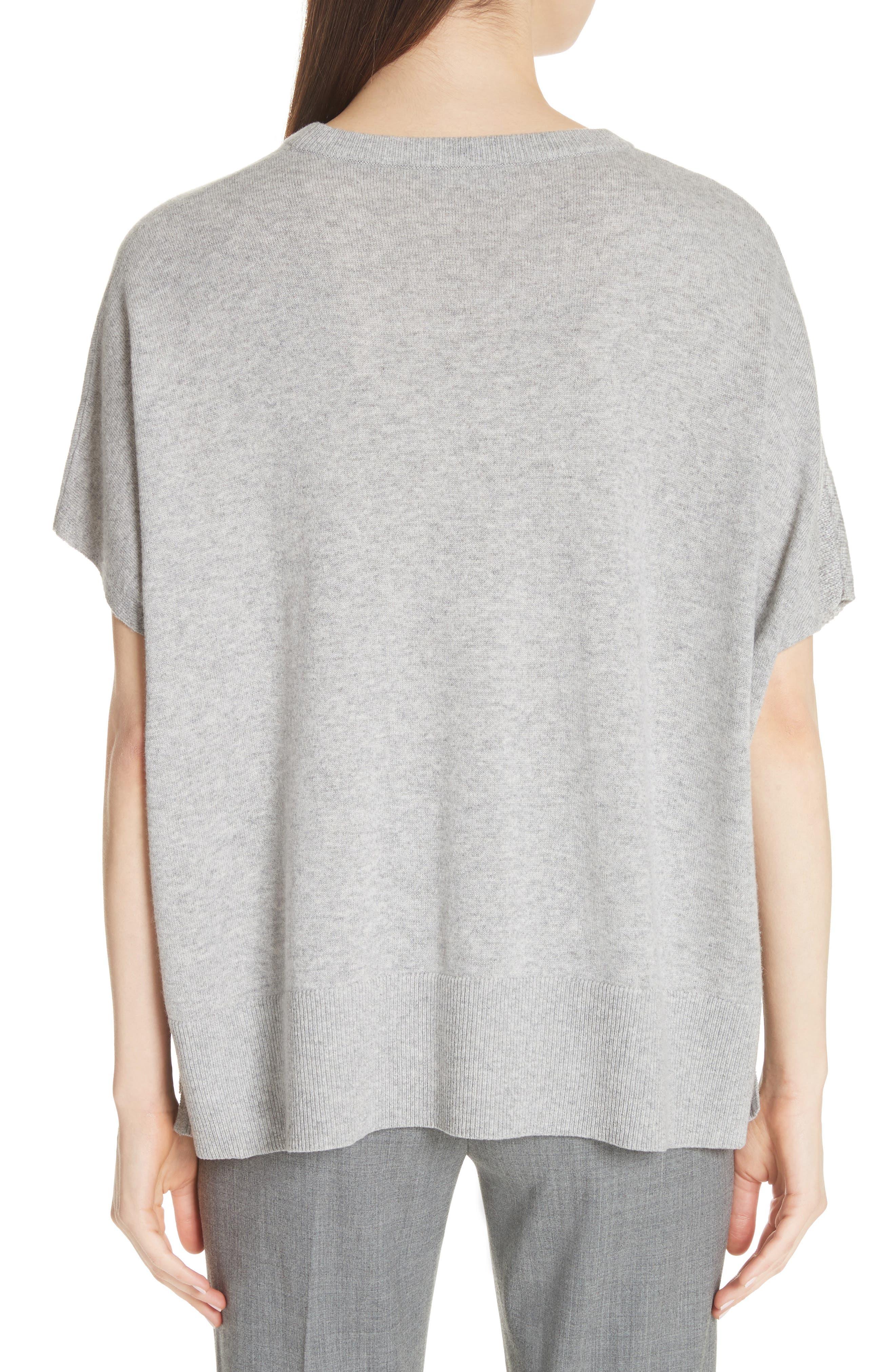 Cashmere Draped Pullover,                             Alternate thumbnail 2, color,                             PEARL GREY MELANGE