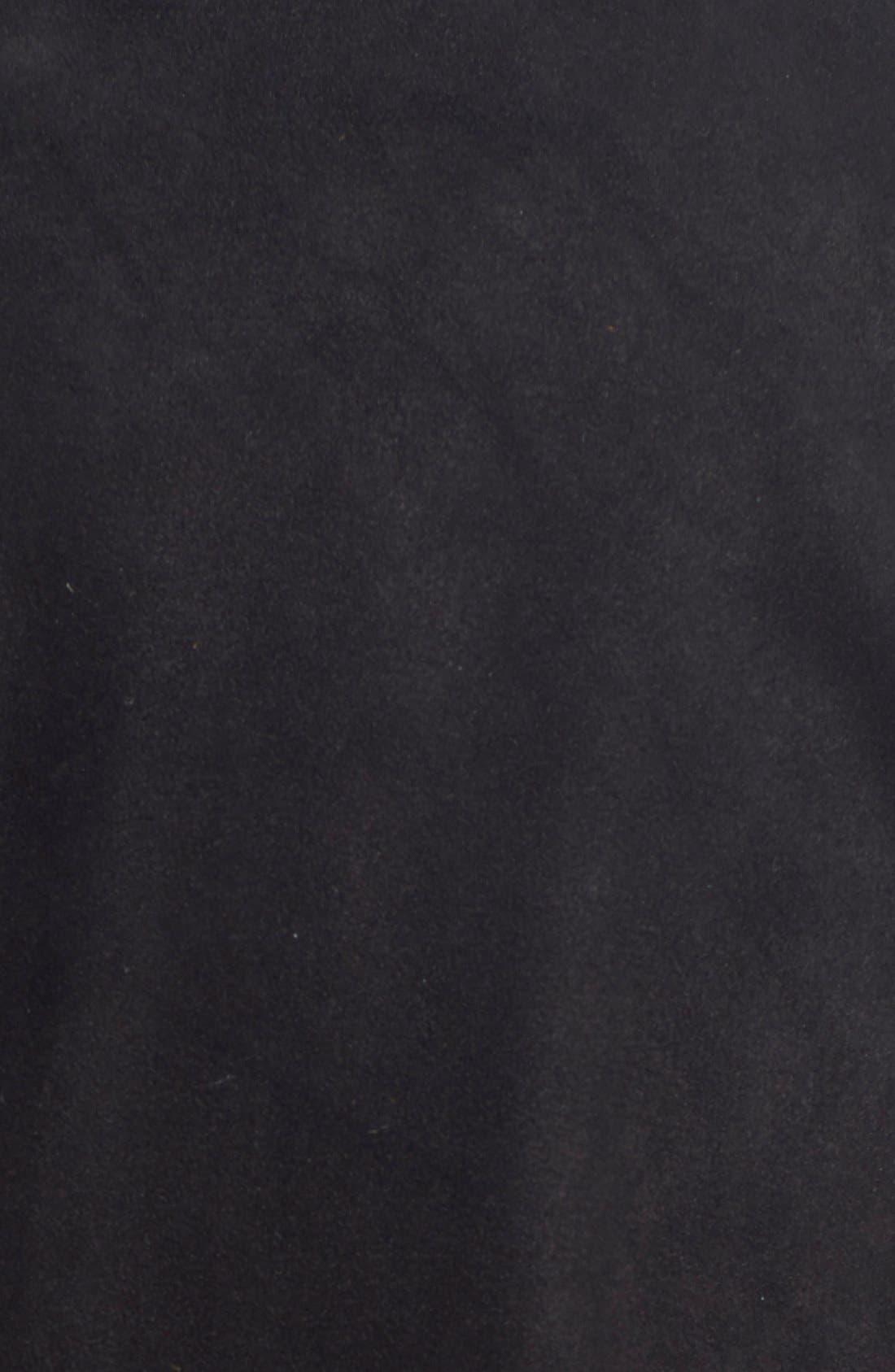 'Rhea' Chain Detail Suede Jacket,                             Alternate thumbnail 2, color,                             001