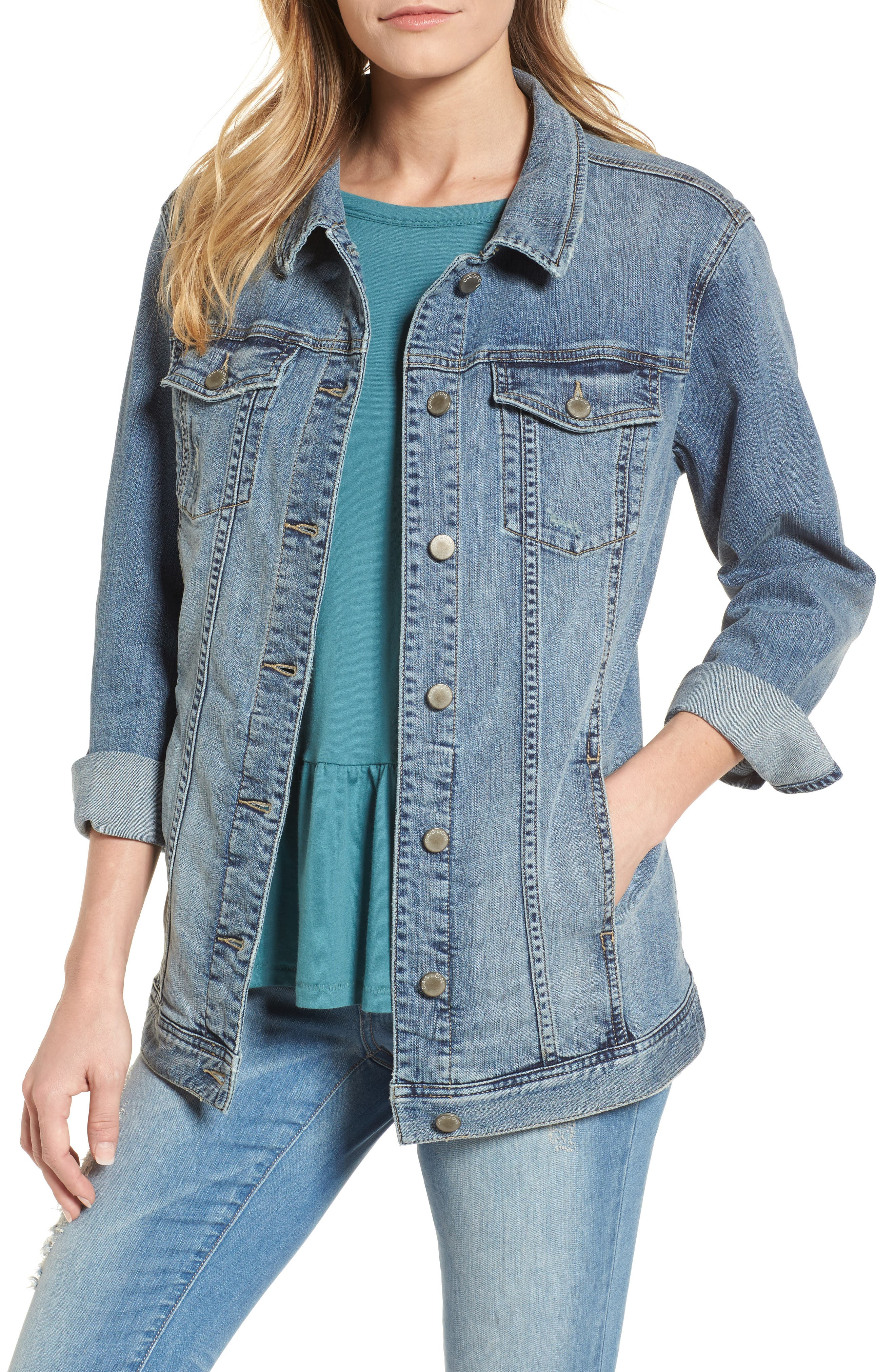 Relaxed Fit Denim Jacket,                         Main,                         color, 420
