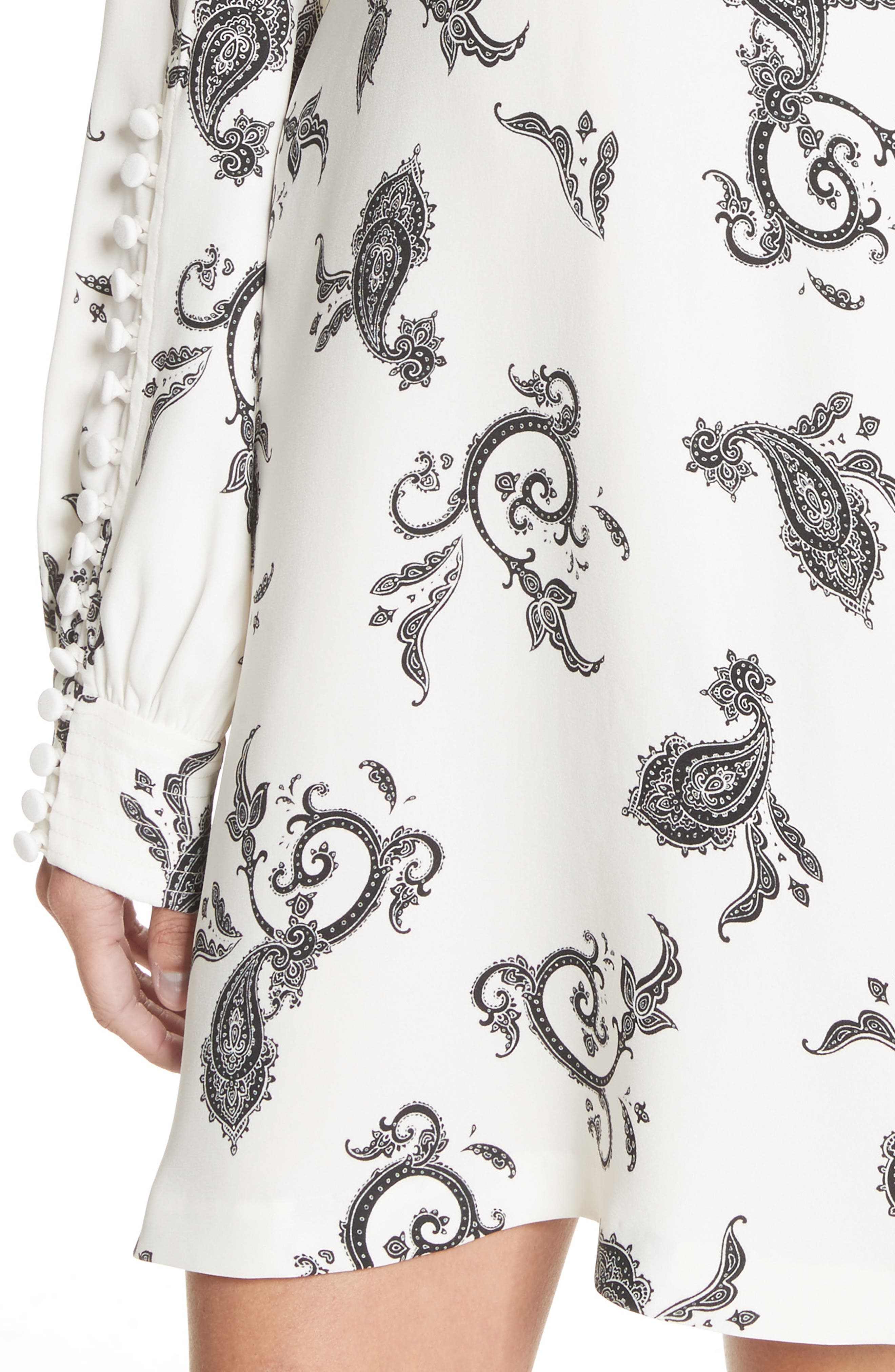 Lauren Print Silk Dress,                             Alternate thumbnail 4, color,                             904