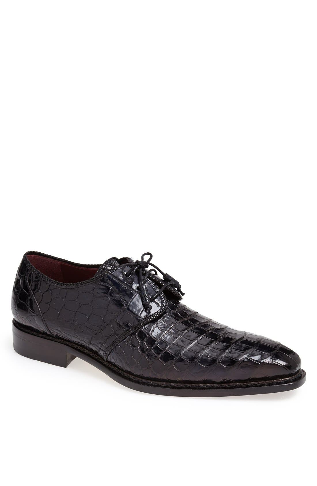 'Marini' Alligator Leather Derby,                         Main,                         color, BLUE