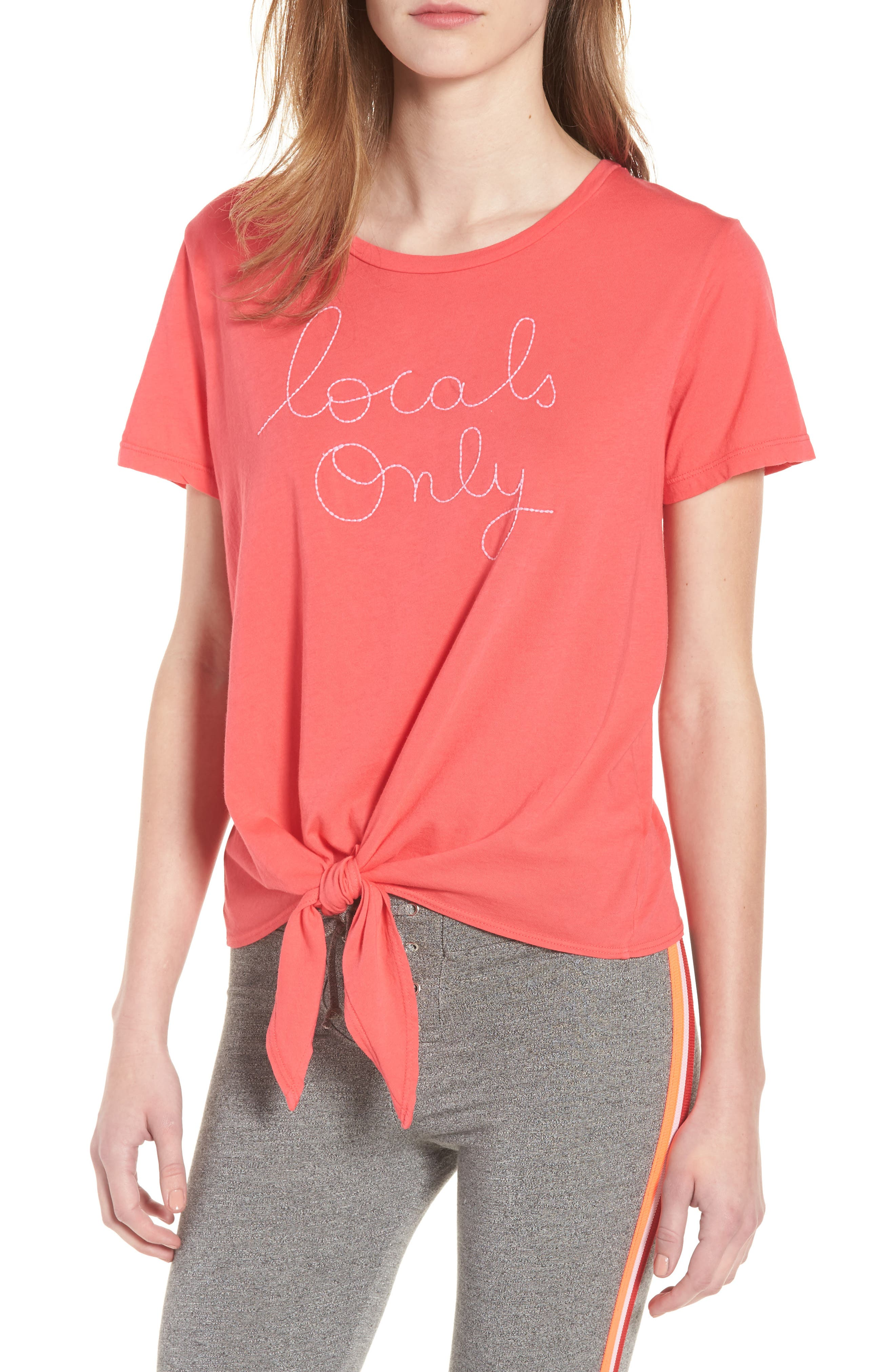 Locals Only Tie Front Tee,                         Main,                         color,
