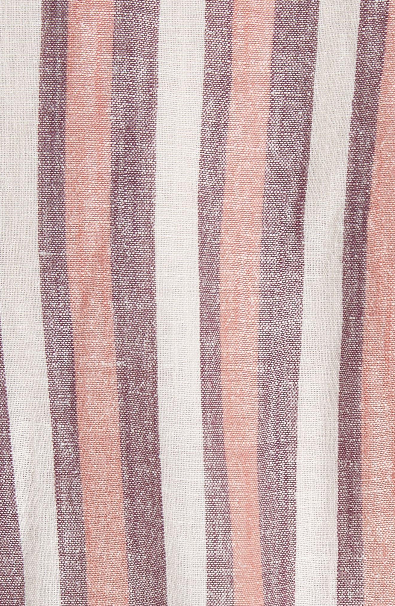 Monday Stripe Linen Blend Midi Dress,                             Alternate thumbnail 12, color,