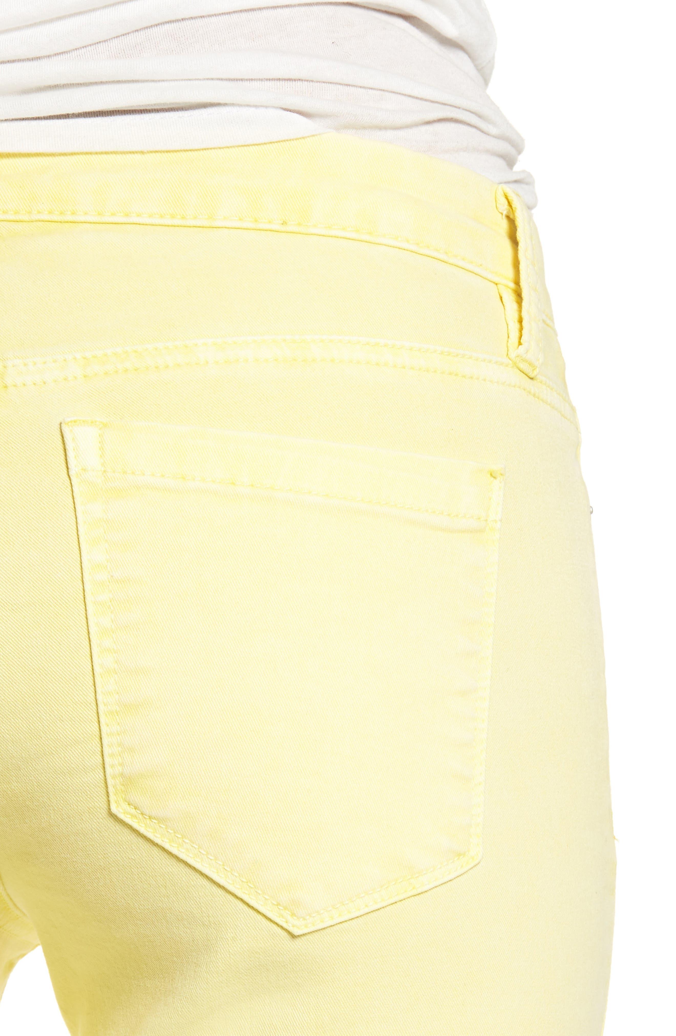 The Reade Classic Crop Raw Edge Double Hem Jeans,                             Alternate thumbnail 4, color,