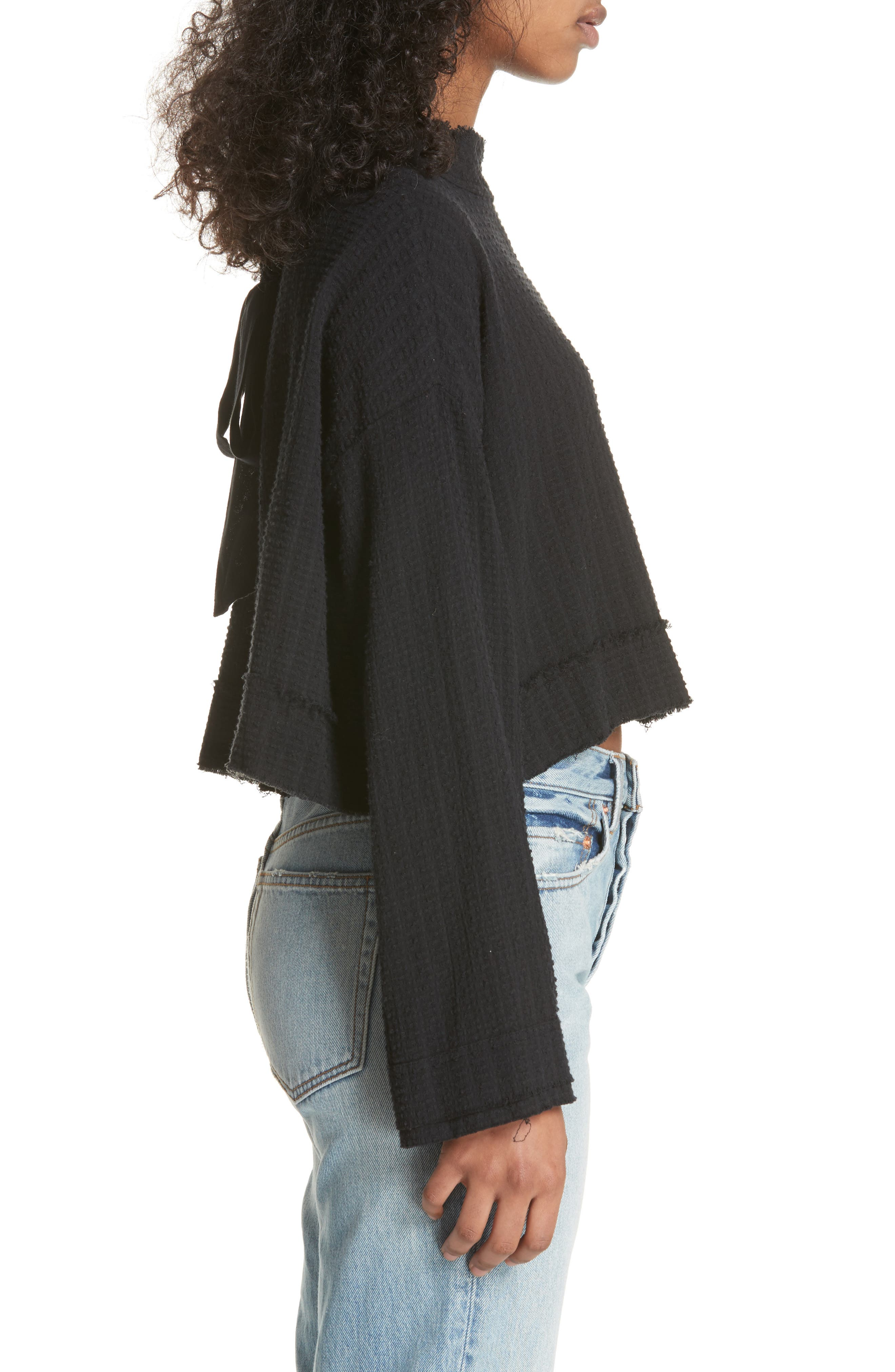 Waking in Hueco Crop Sweater,                             Alternate thumbnail 3, color,                             001