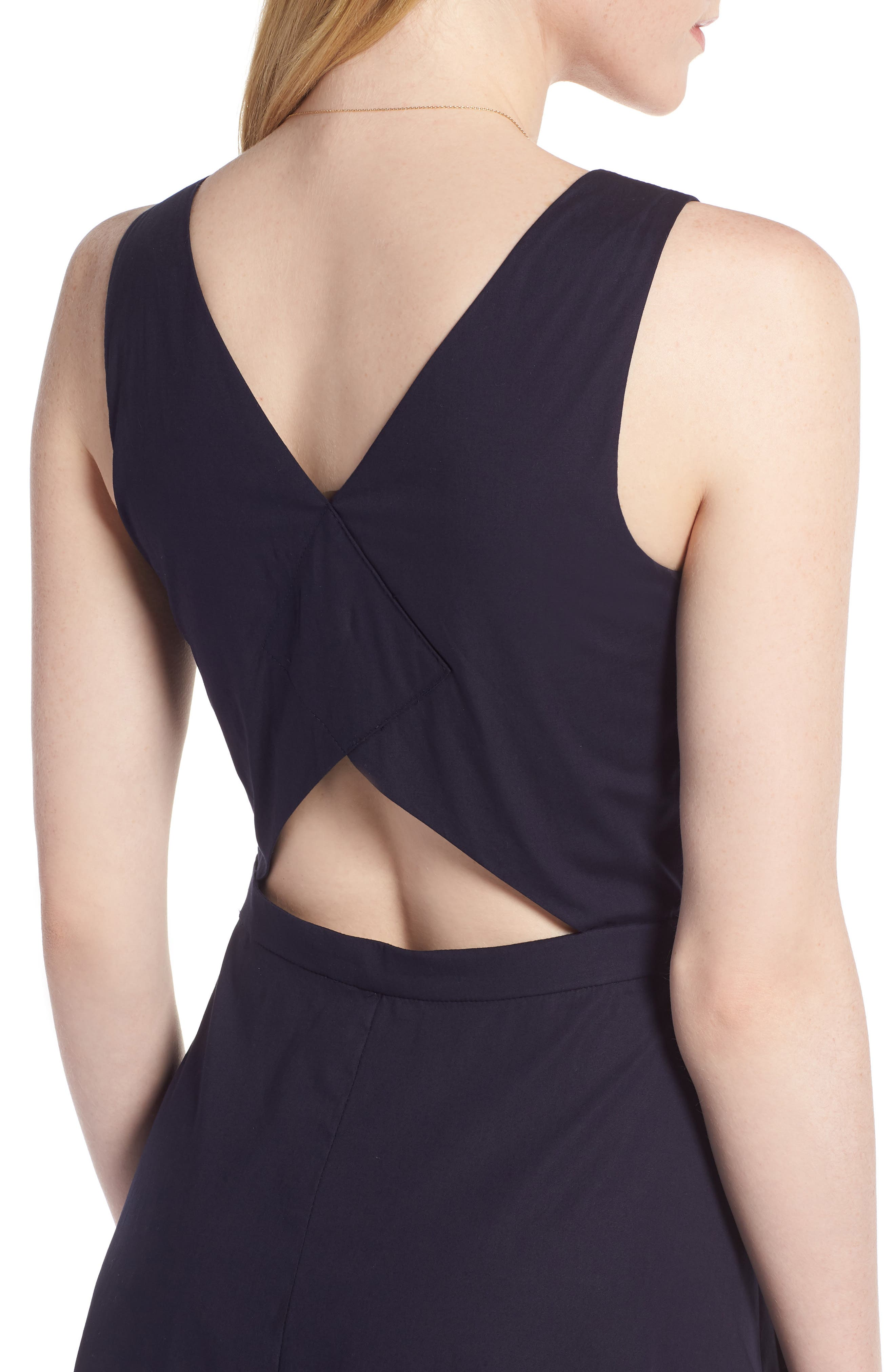 Colorblock Cotton Midi Dress,                             Alternate thumbnail 5, color,                             410
