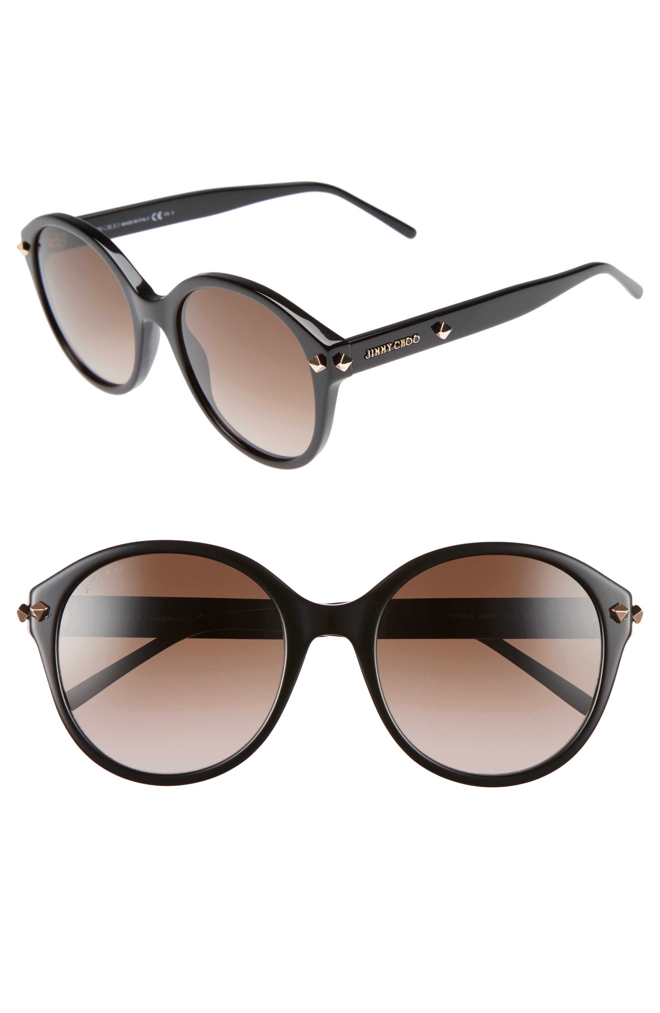 55mm Oversized Sunglasses,                             Alternate thumbnail 2, color,                             001