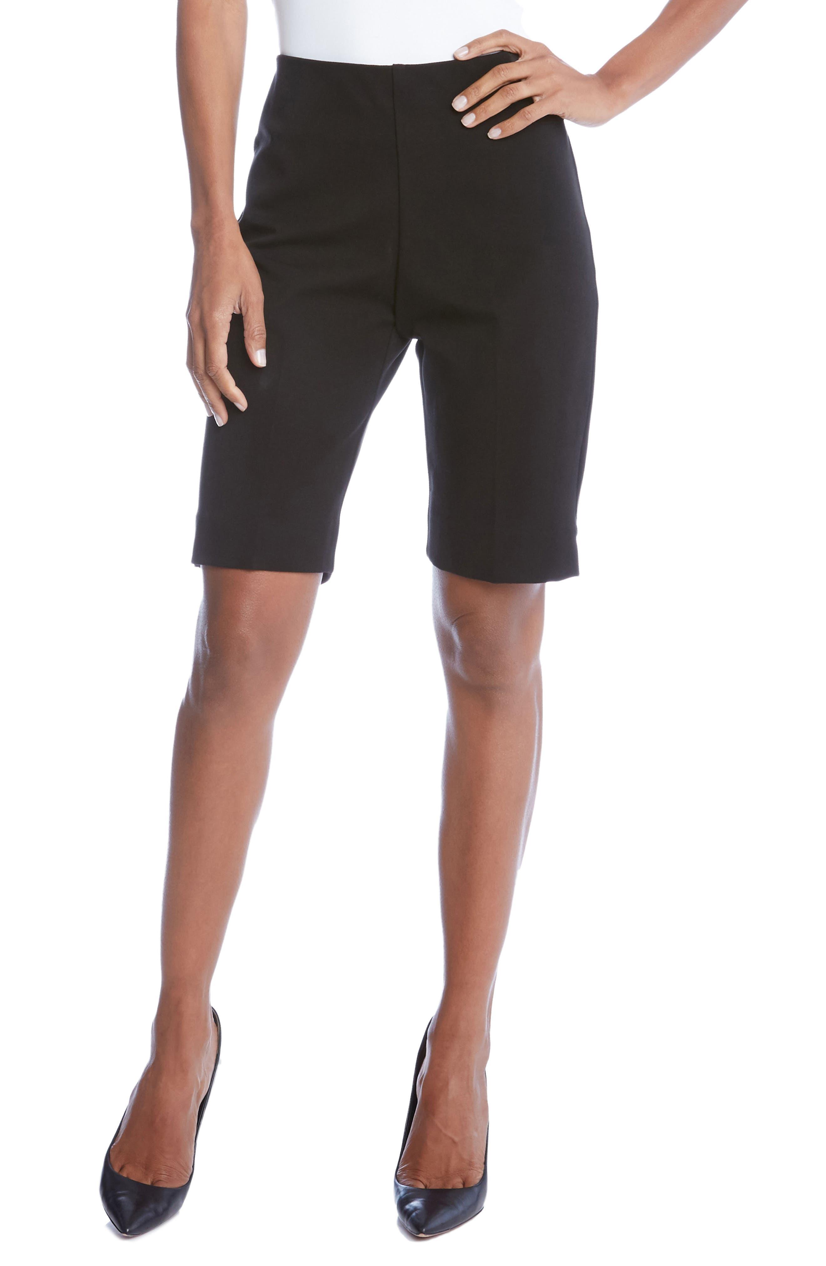 Side Slit Bermuda Shorts,                             Main thumbnail 1, color,                             001