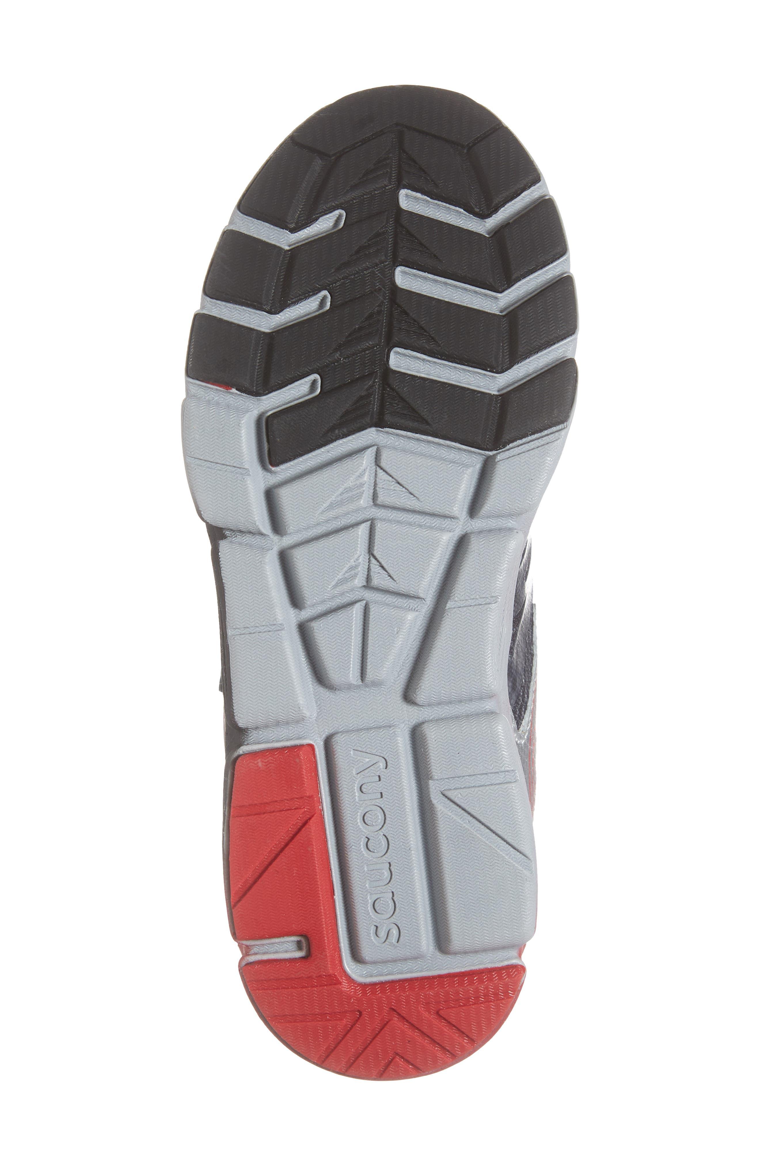 Kotaro Flash Sneaker,                             Alternate thumbnail 6, color,                             BLACK LEATHER/ MESH