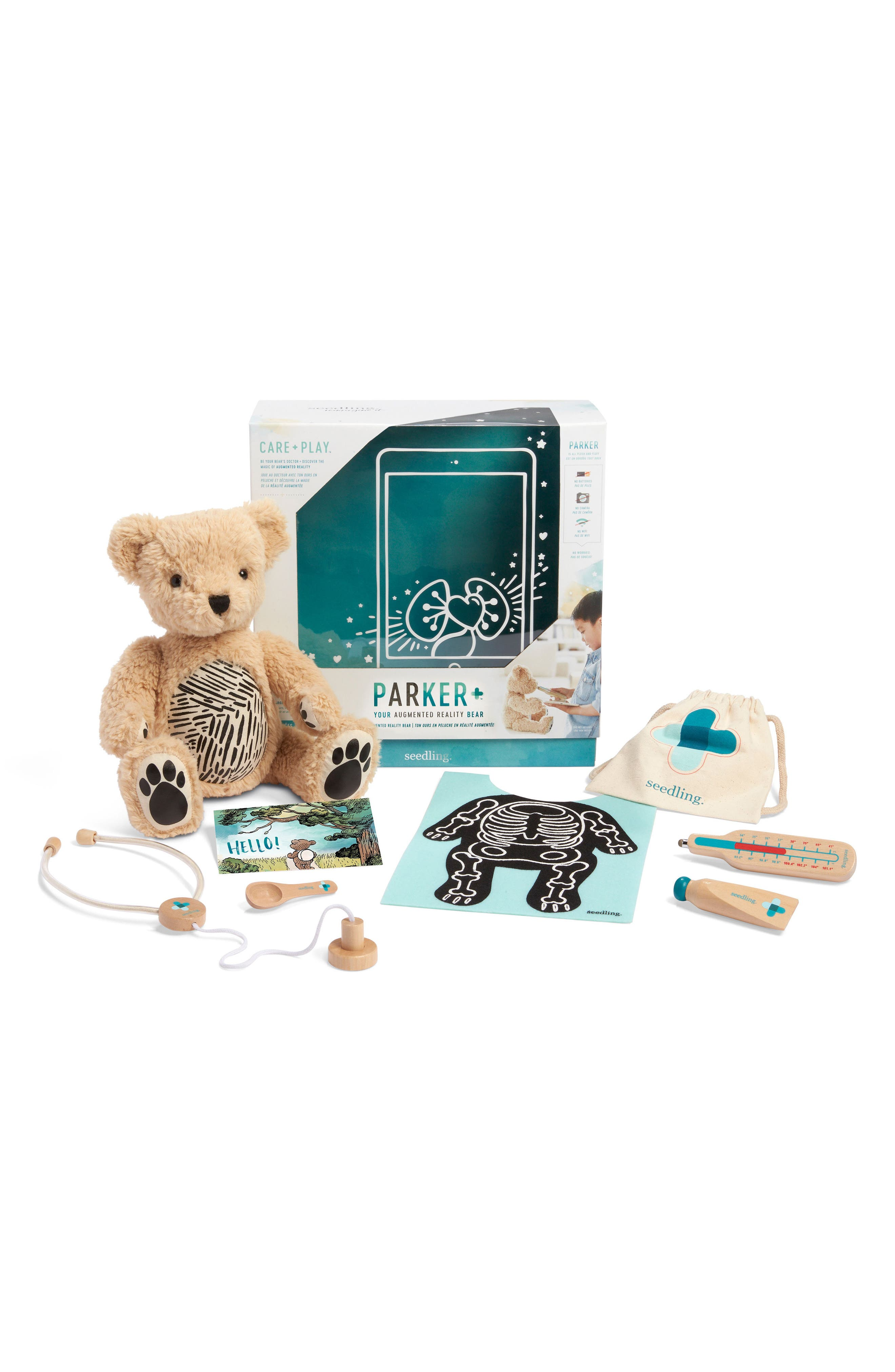 Parker: Your Augmented Reality Interactive Stuffed Animal,                         Main,                         color, TEAL
