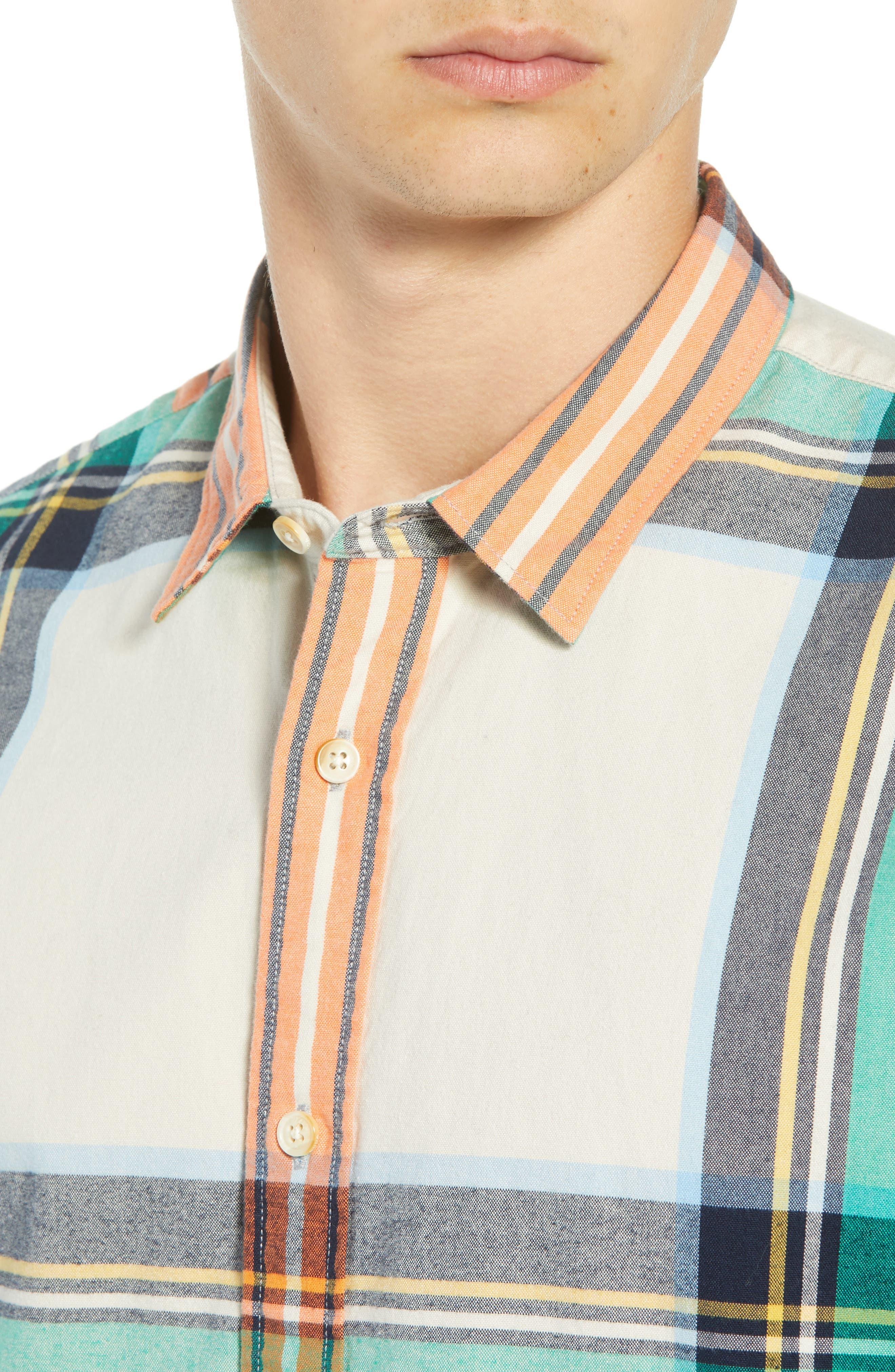 Plaid Flannel Shirt,                             Alternate thumbnail 2, color,                             COMBO D