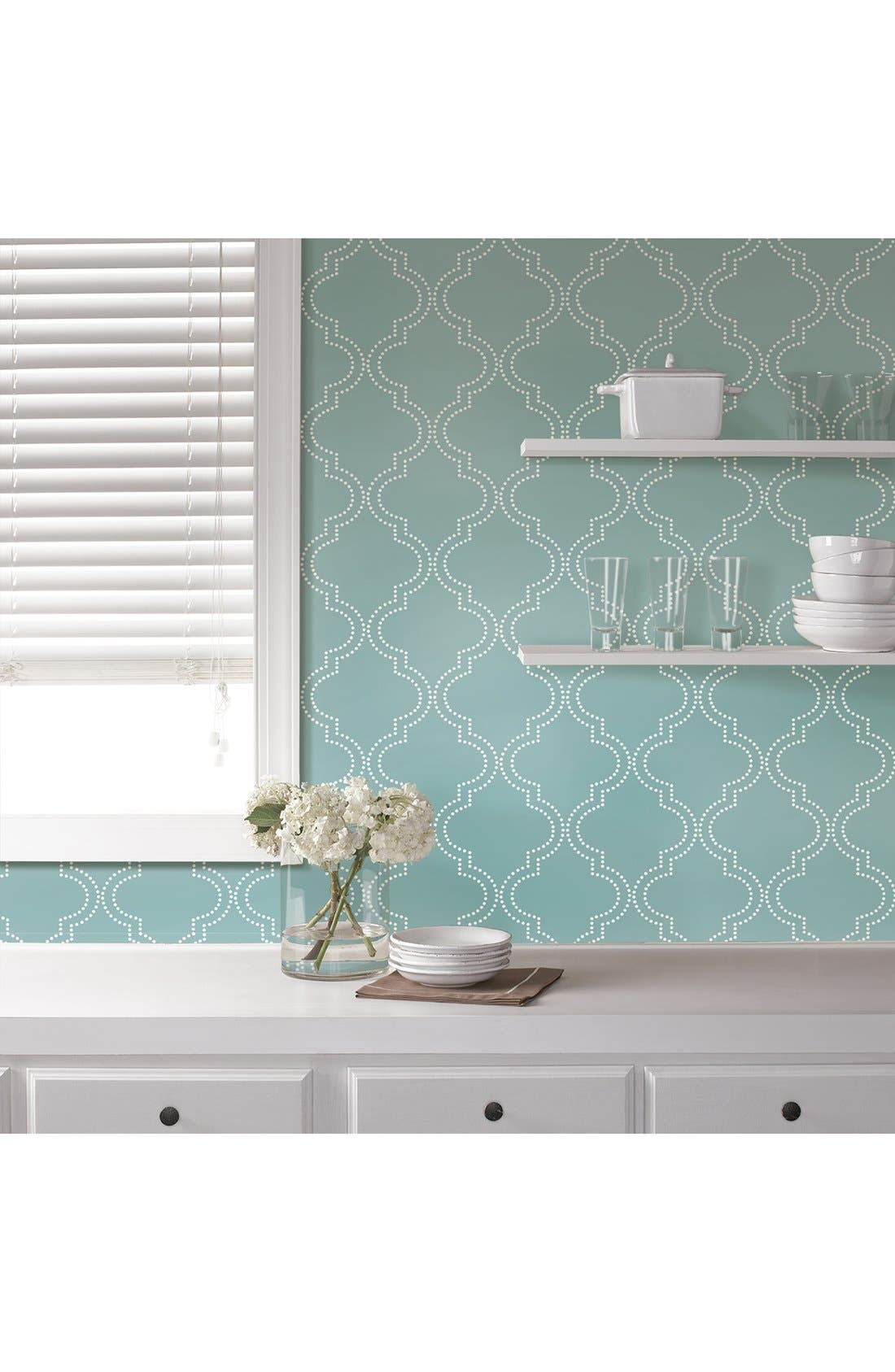'Quatrefoil'  Peel & Stick Vinyl Wallpaper,                             Alternate thumbnail 4, color,                             401