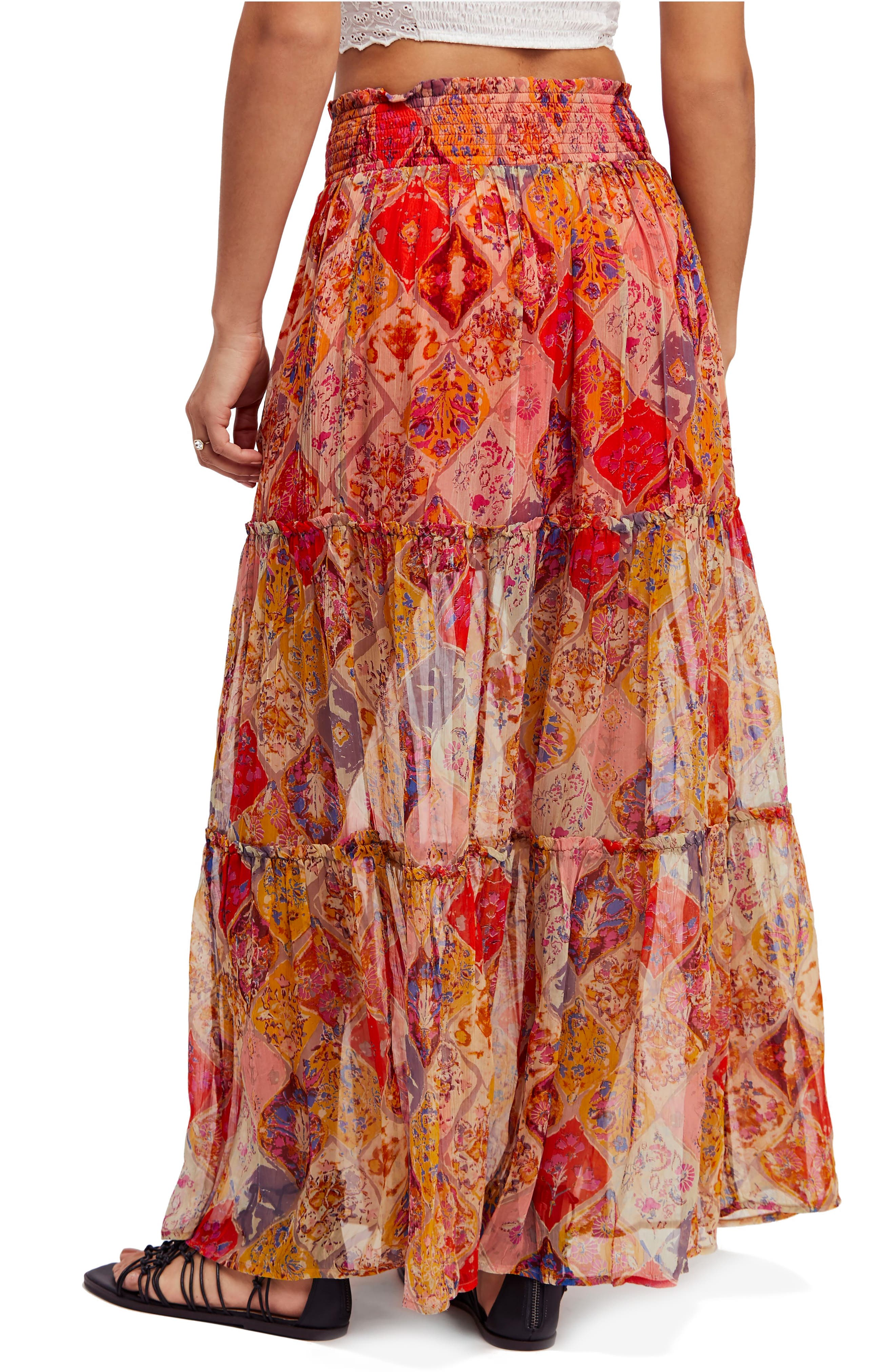 The Great Escape Print Maxi Skirt,                             Alternate thumbnail 2, color,                             800